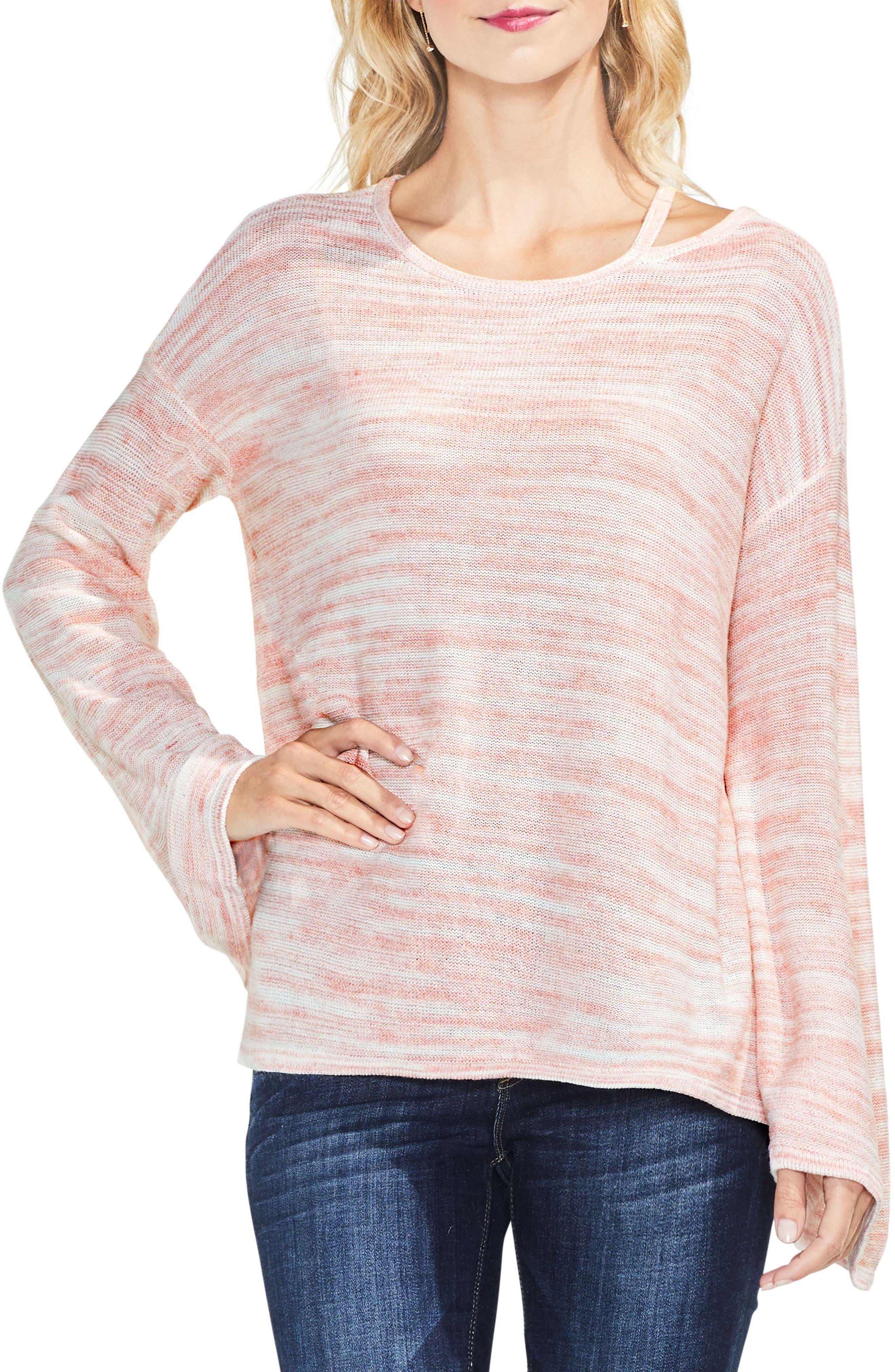 Drop Shoulder Space Dye Sweater,                             Main thumbnail 2, color,