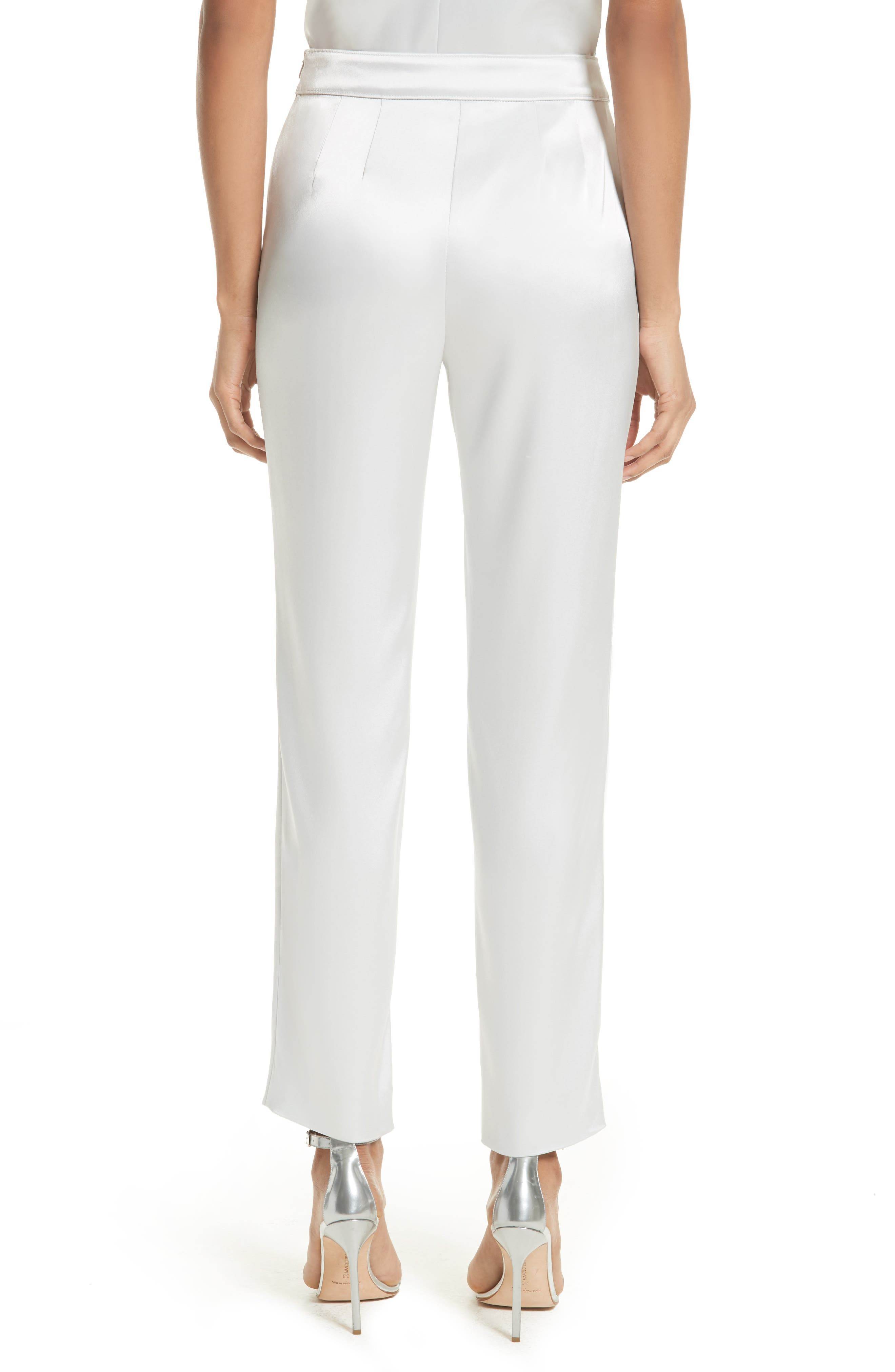 Emma Liquid Satin Crop Pants,                             Alternate thumbnail 2, color,                             050
