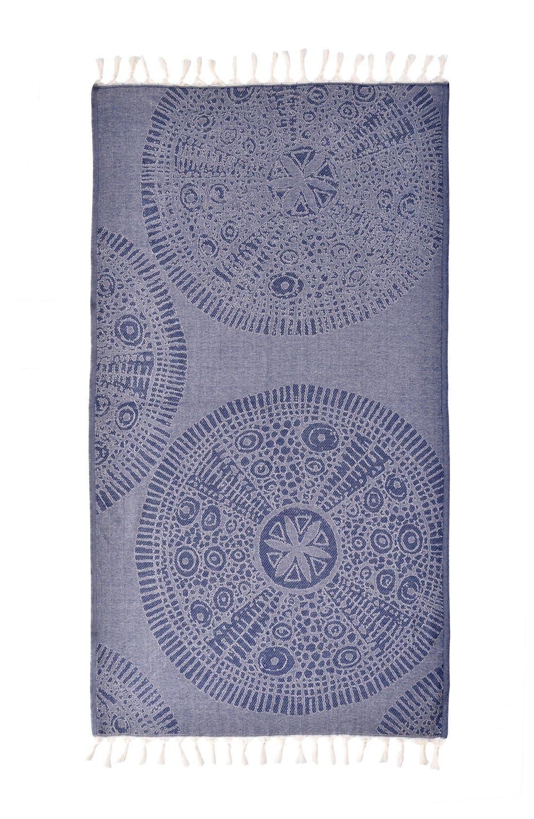 Anatolian Turkish Pestemal Beach Towel,                             Alternate thumbnail 3, color,                             400