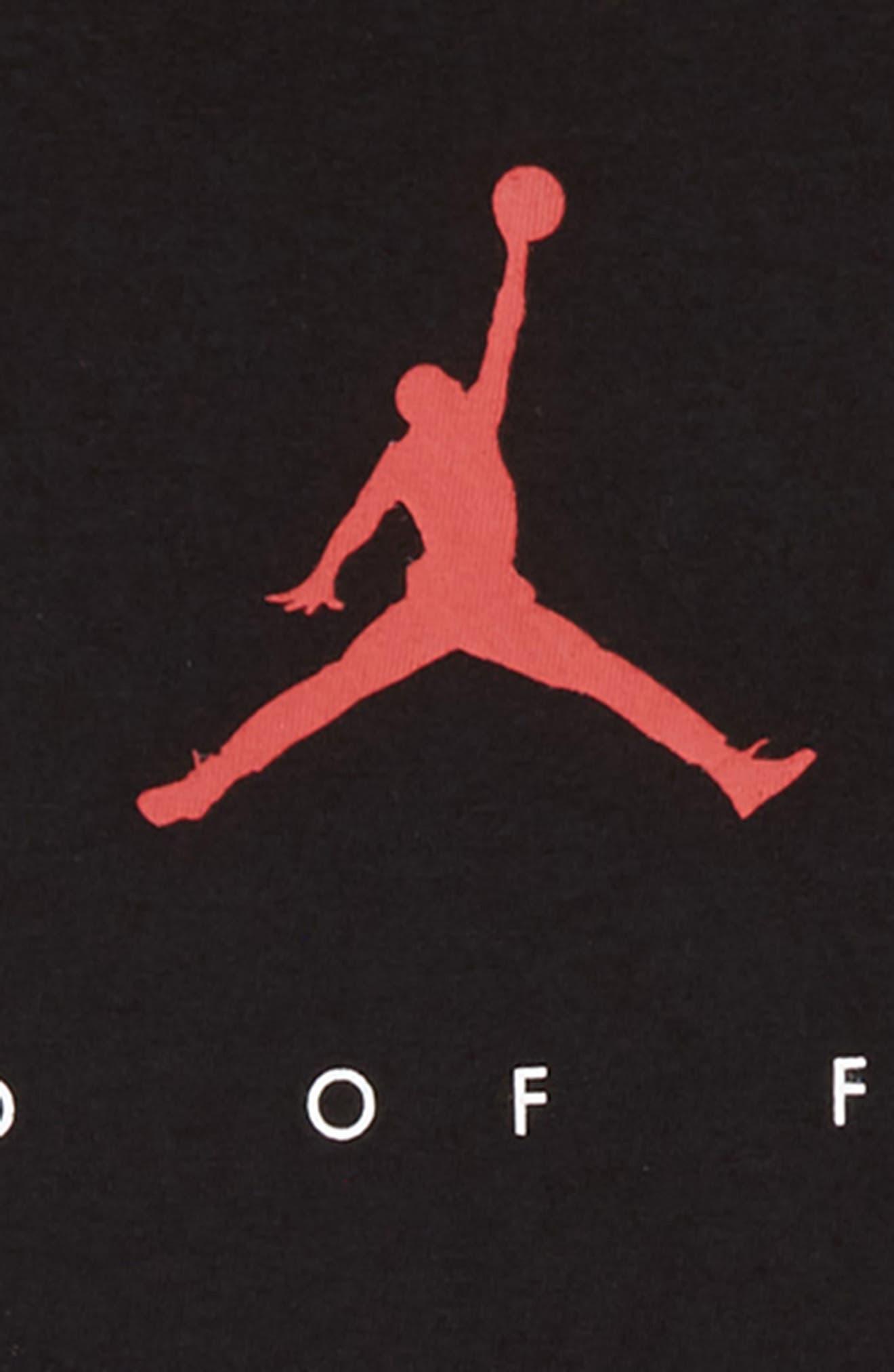 Jordan Two Three T-Shirt,                             Alternate thumbnail 3, color,                             BLACK
