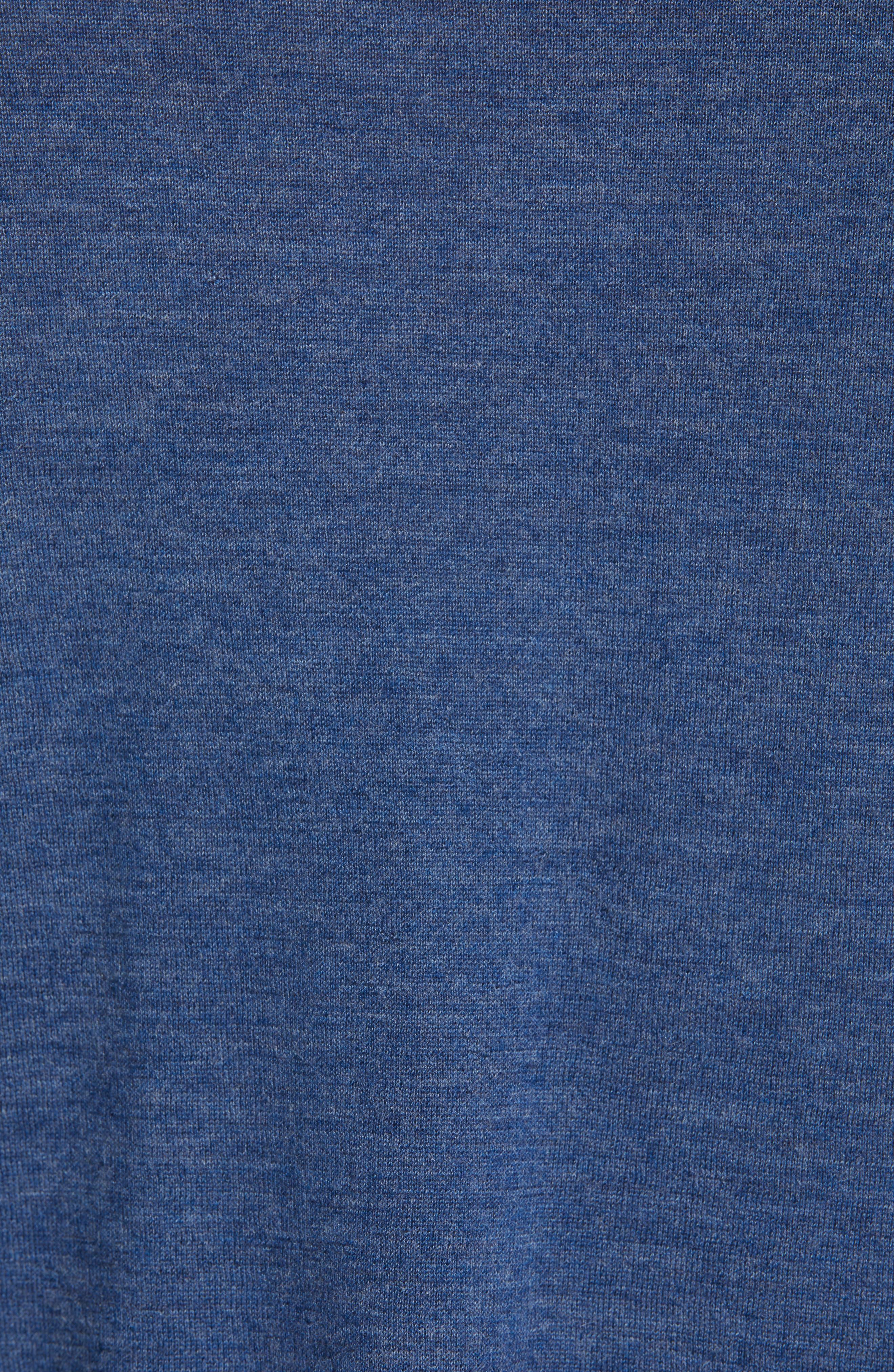 Cashmere Crewneck Sweater,                             Alternate thumbnail 5, color,                             SAPPHIRE