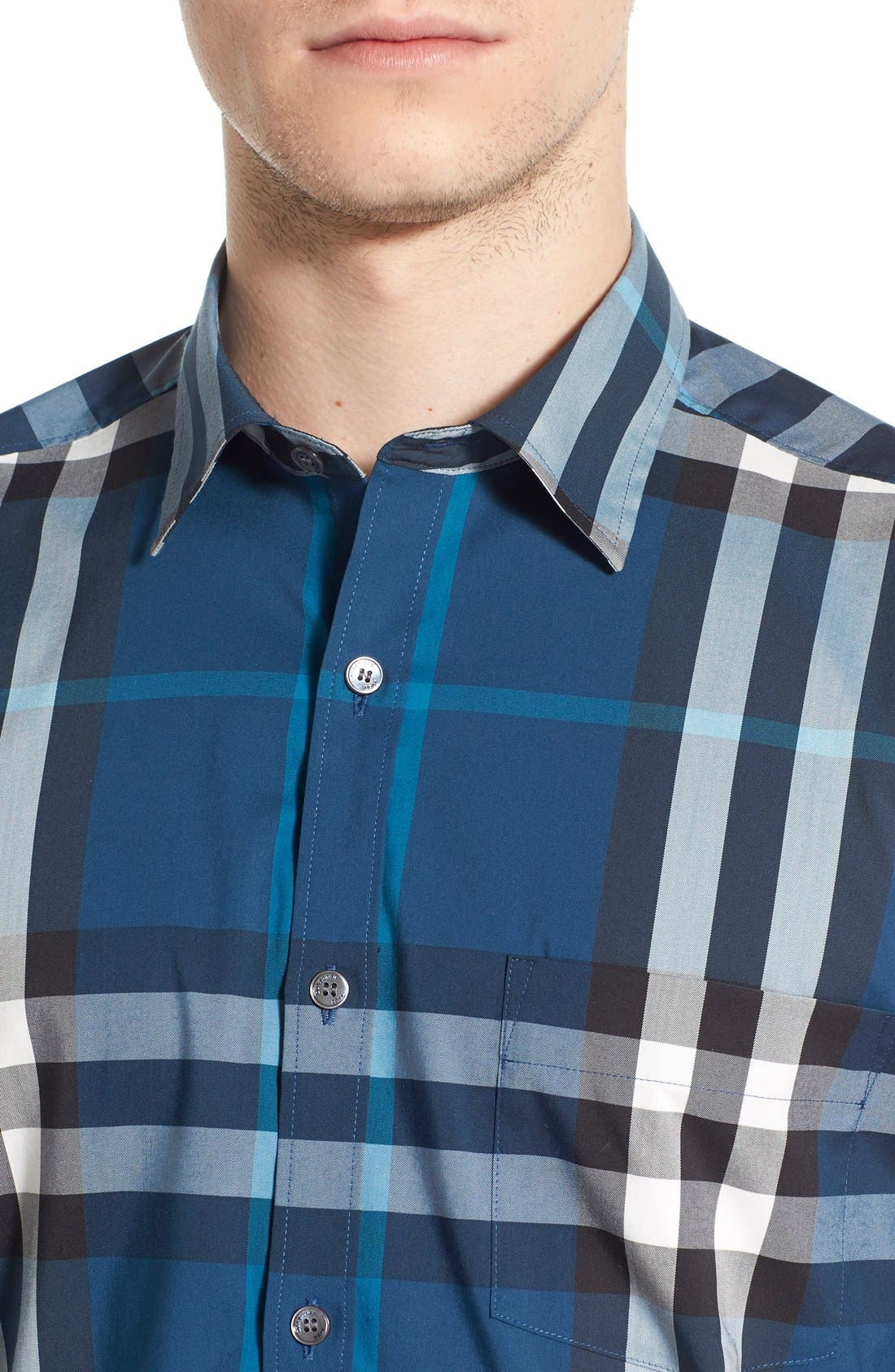 Nelson Check Sport Shirt,                             Alternate thumbnail 85, color,