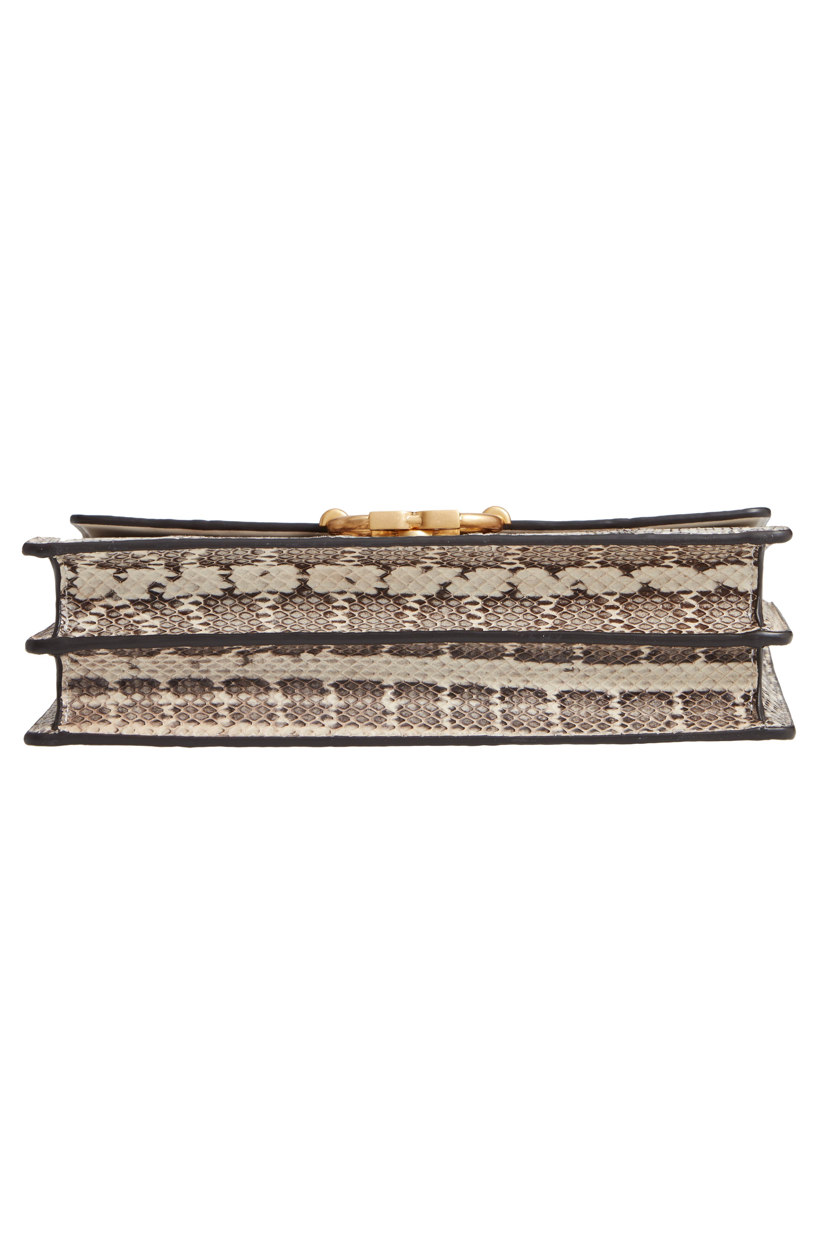 Medium Gemini Link Genuine Snakeskin Shoulder Bag,                             Alternate thumbnail 6, color,                             NATURAL