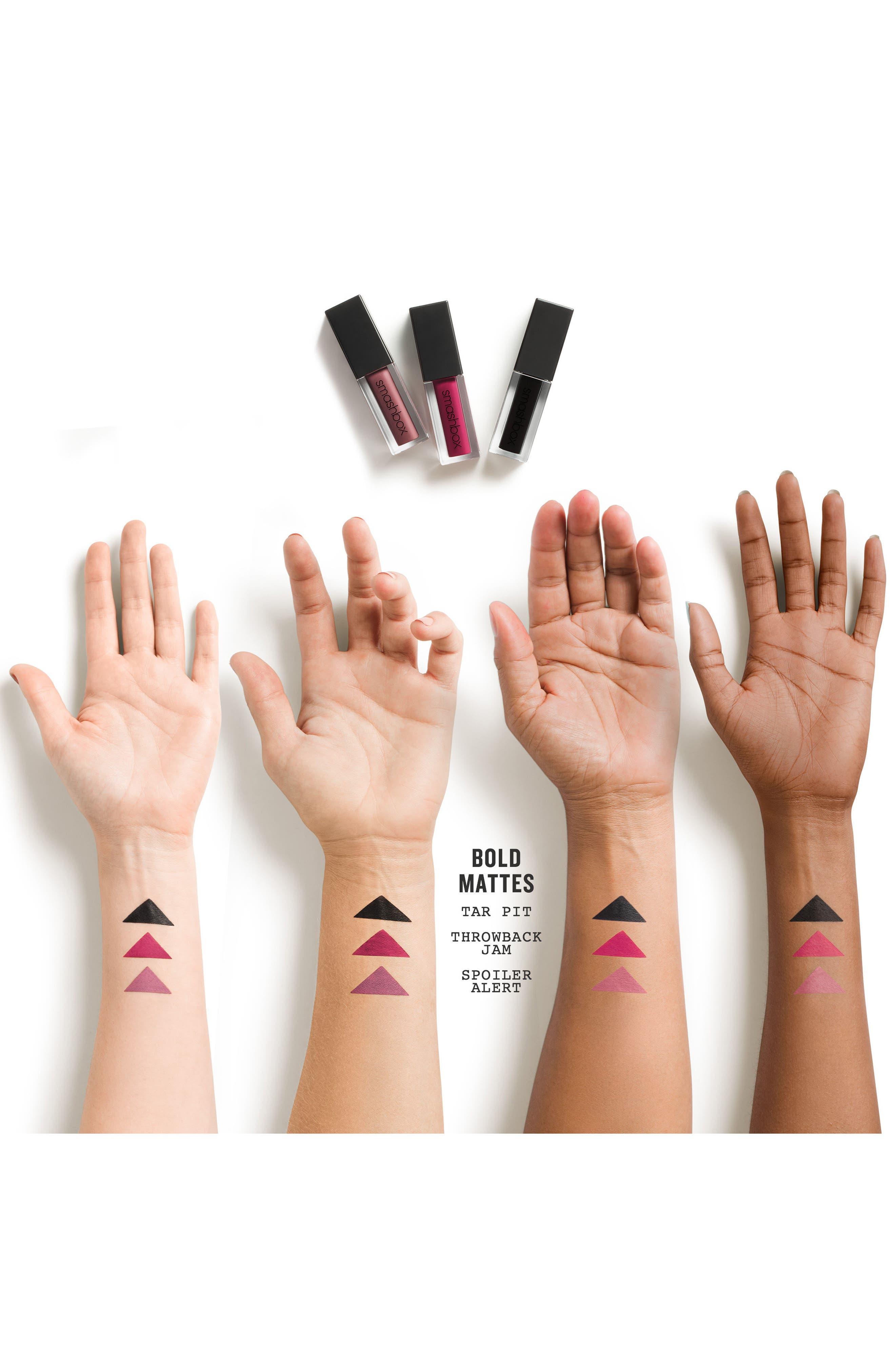 Always On Matte Liquid Lipstick,                             Alternate thumbnail 2, color,                             TAR PIT