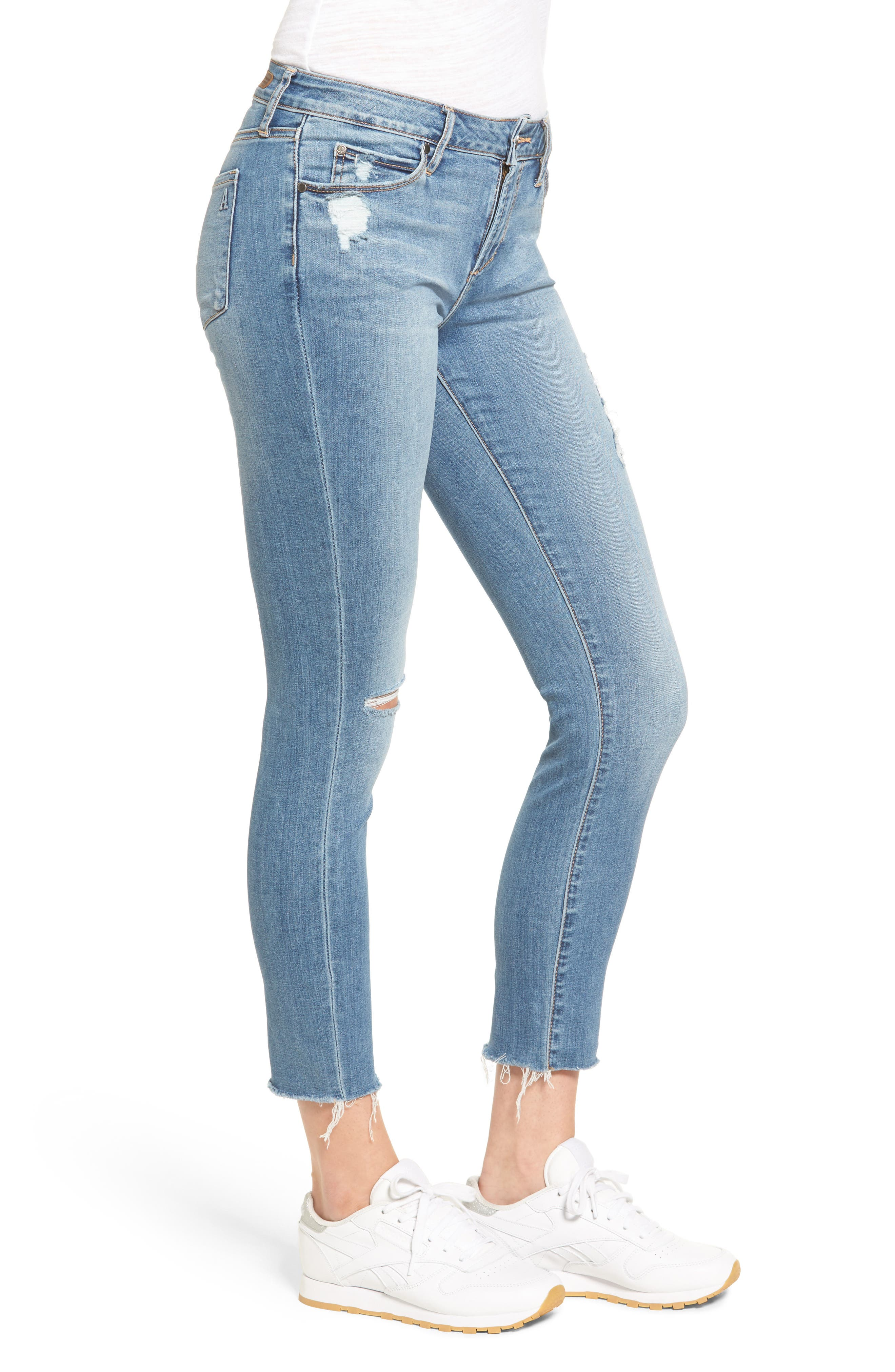 Carly Skinny Crop Jeans,                             Alternate thumbnail 3, color,                             400