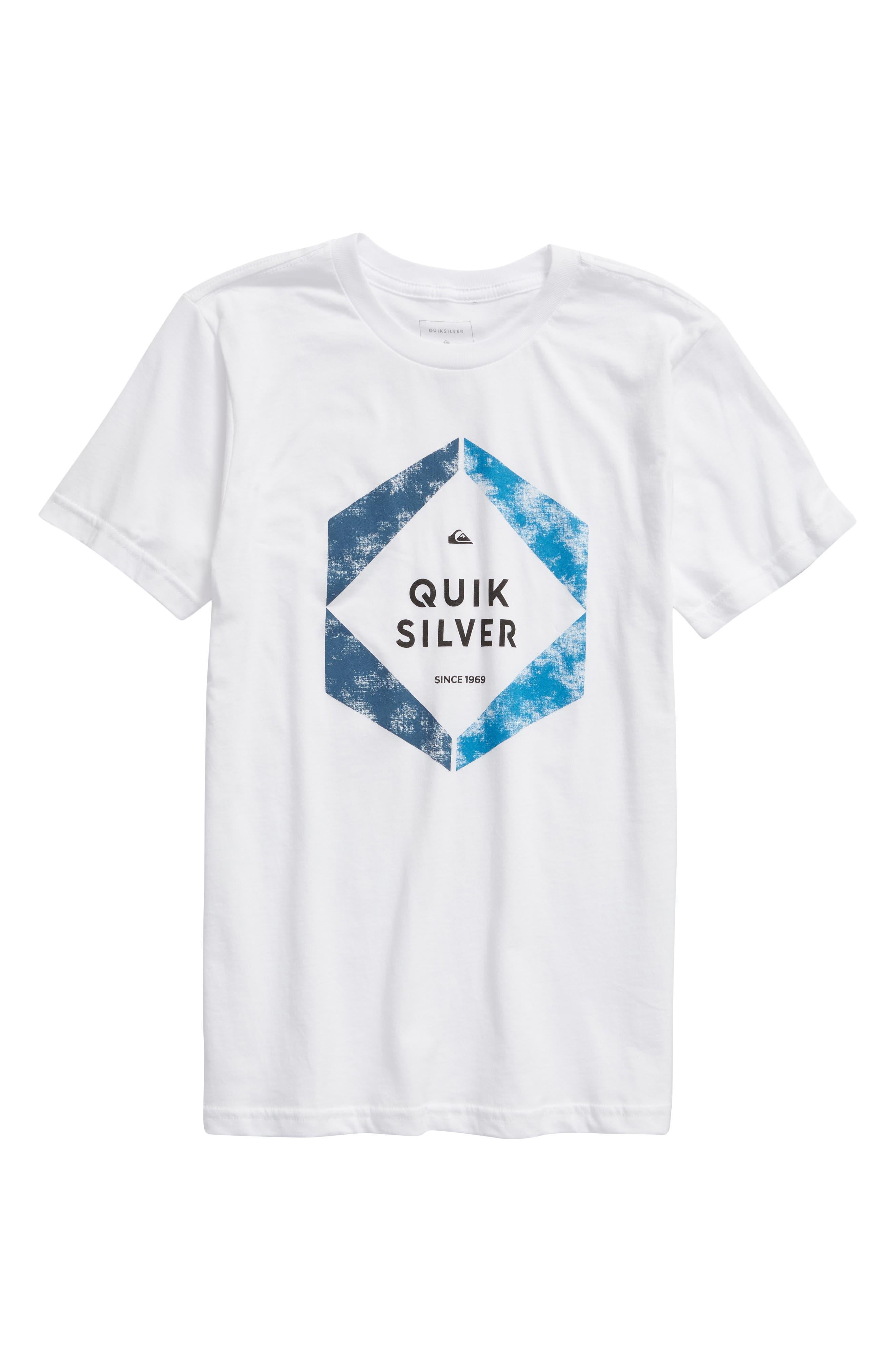 Boys Quiksilver Hexa Logo TShirt