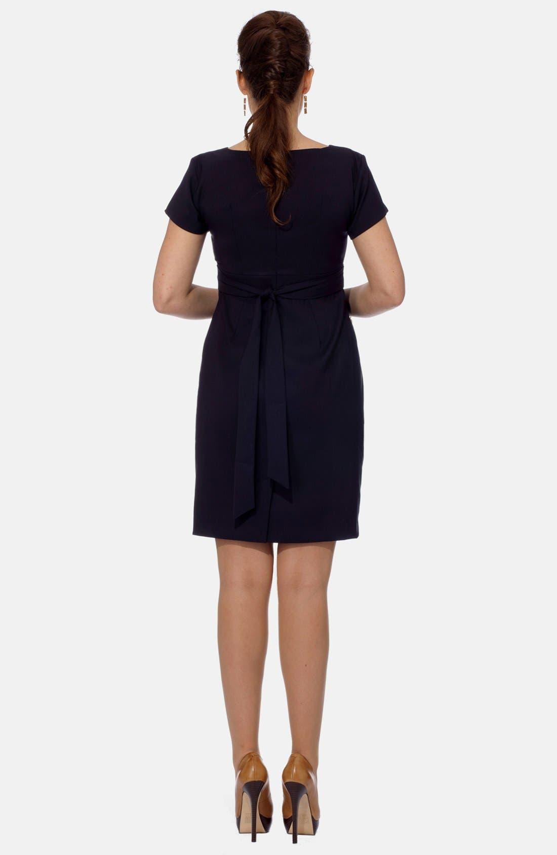 London Tailored Maternity Dress,                             Alternate thumbnail 2, color,                             NAVY