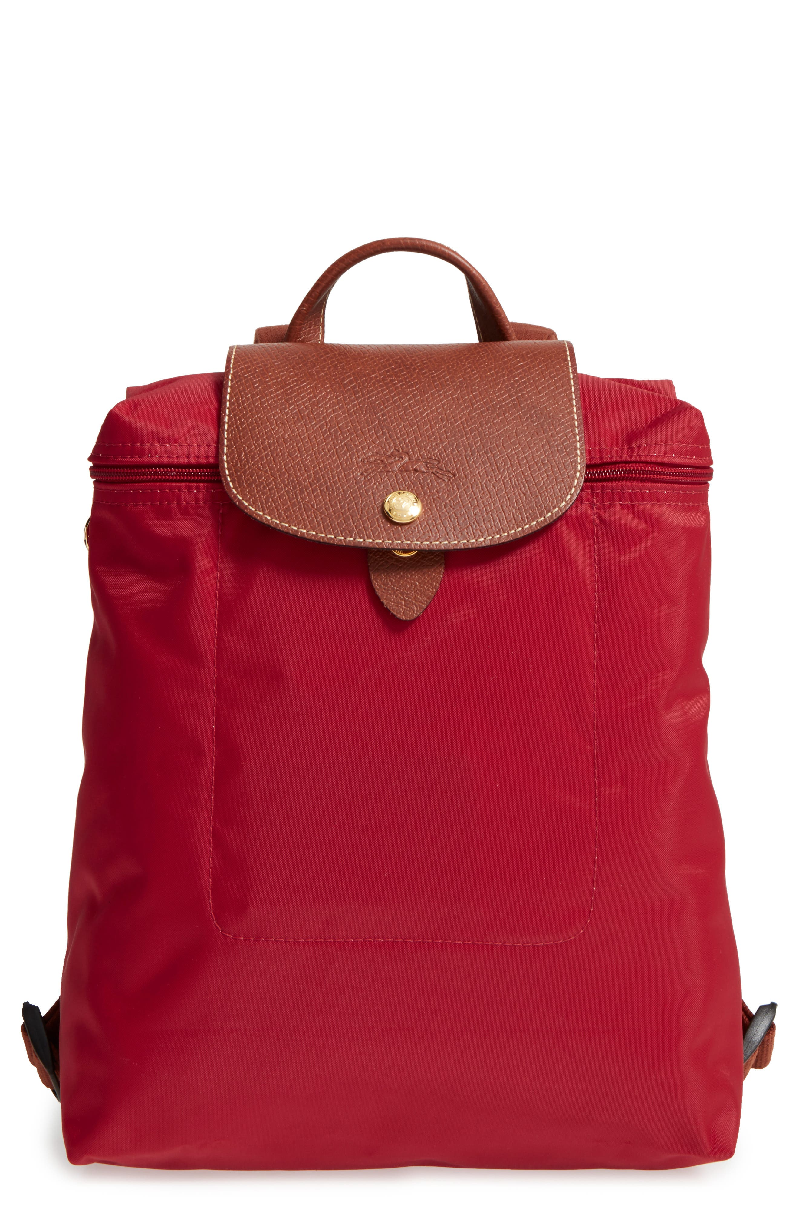 LONGCHAMP 'Le Pliage' Backpack - Red in Deep Red