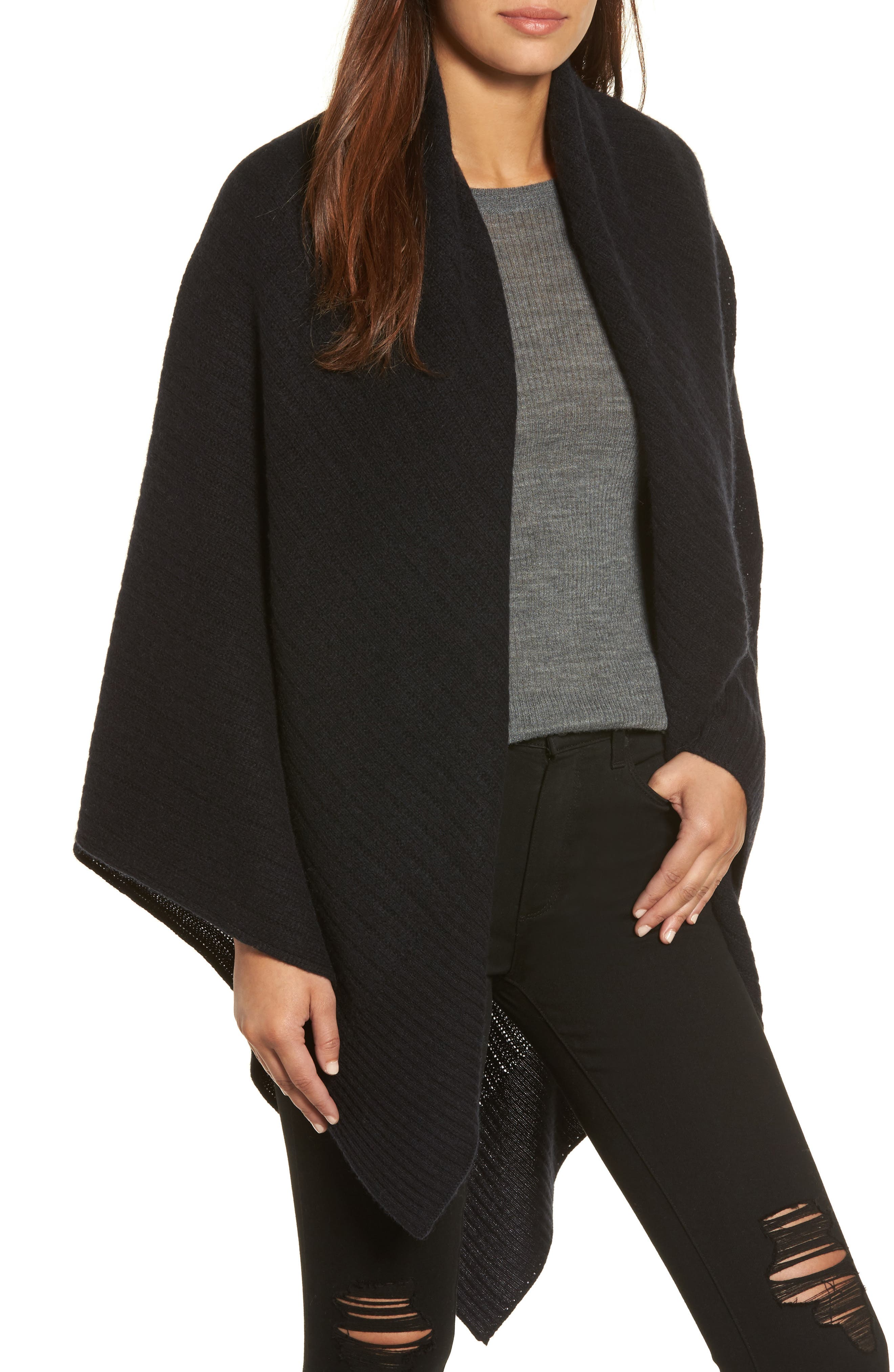 Cashmere Wrap,                         Main,                         color, 001
