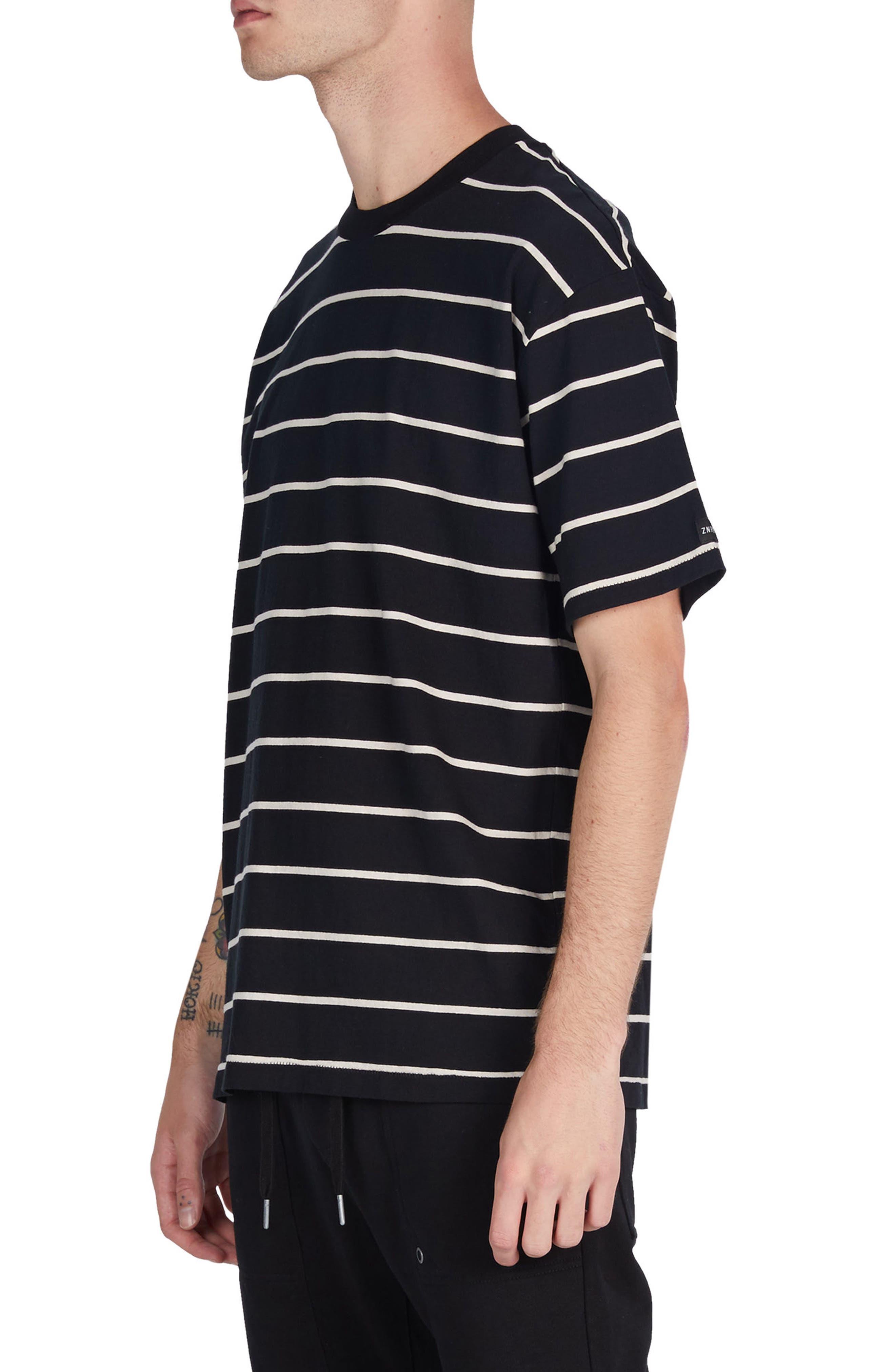 Box Stripes T-Shirt,                             Alternate thumbnail 4, color,                             001