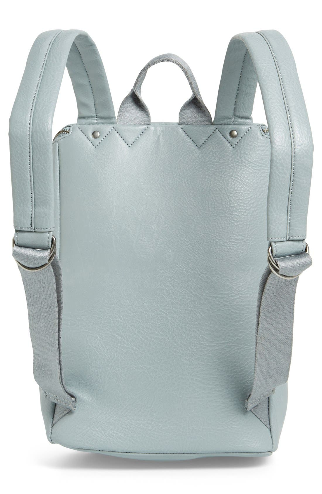 'Brave' Faux Leather Backpack,                             Alternate thumbnail 53, color,