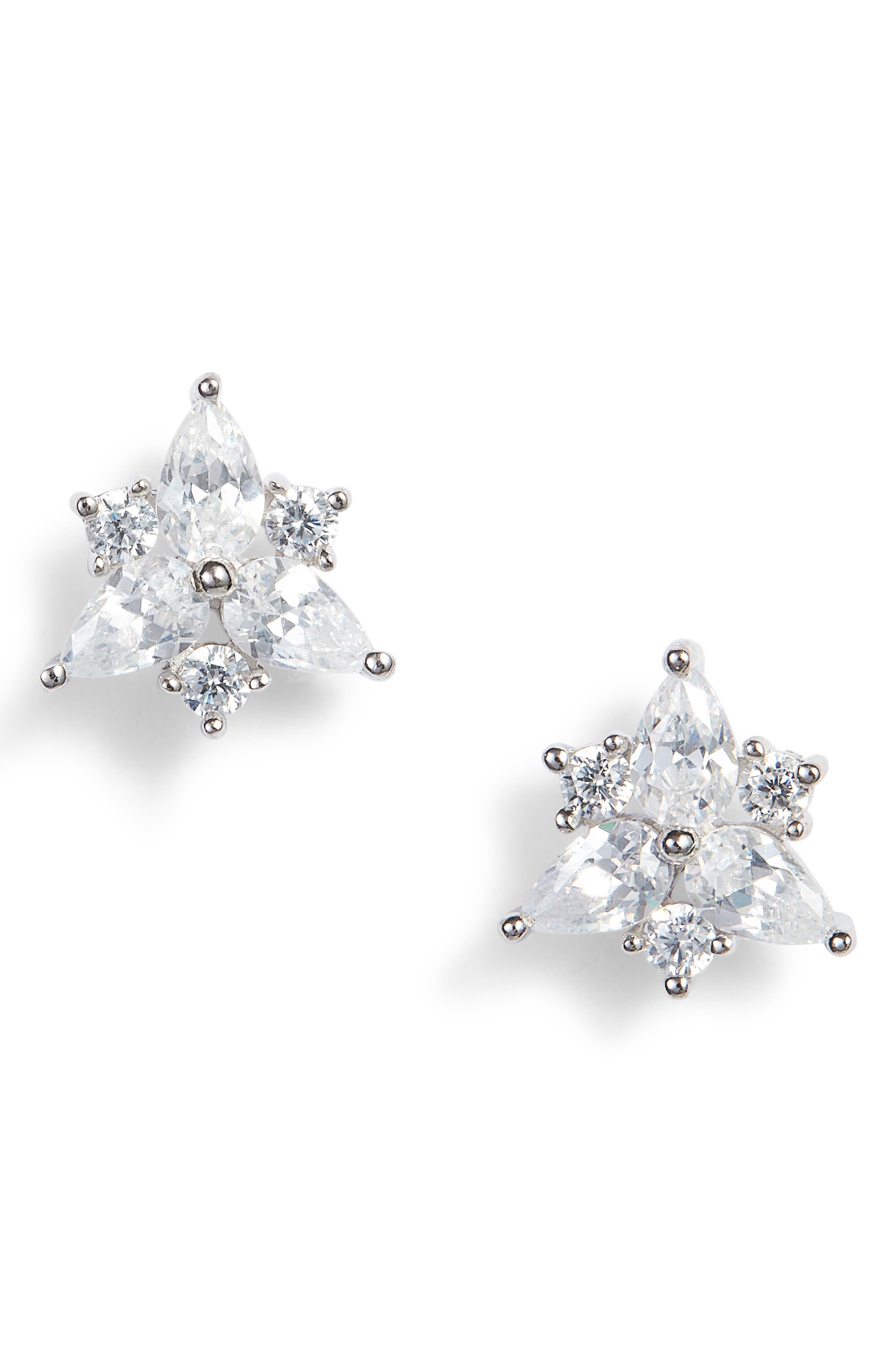 Pear Starburst Stud Earrings,                             Main thumbnail 1, color,                             040