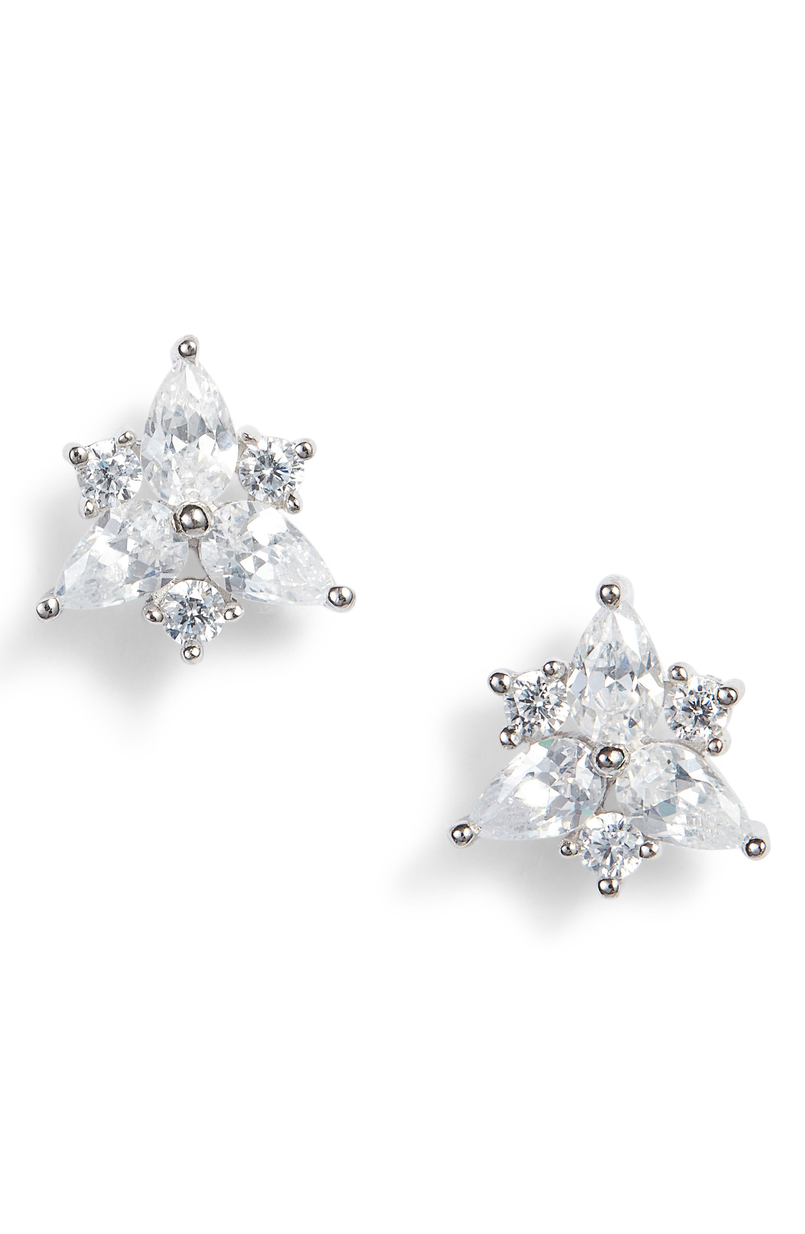 Pear Starburst Stud Earrings,                         Main,                         color, 040