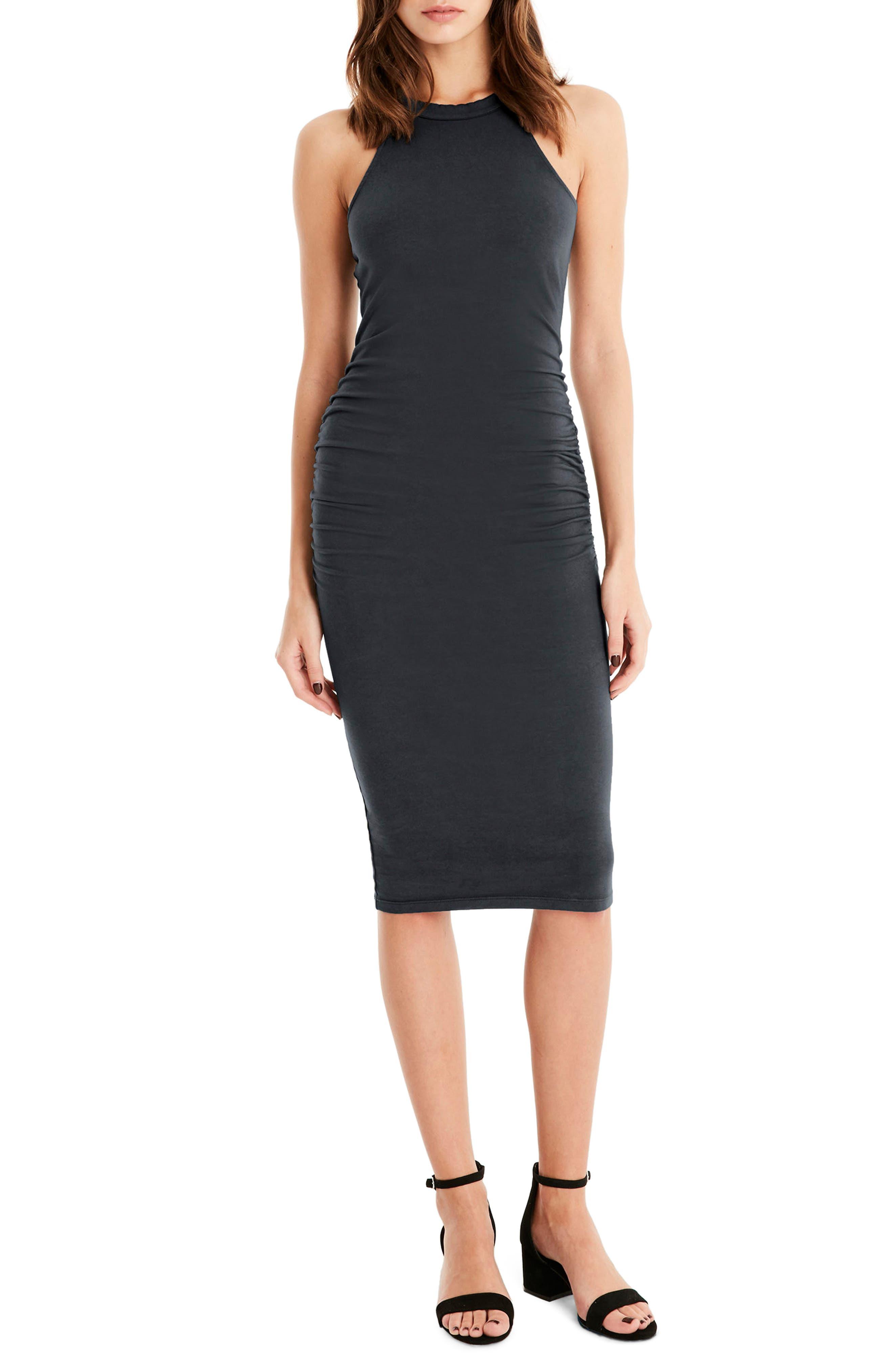 Halter Midi Dress,                             Main thumbnail 1, color,