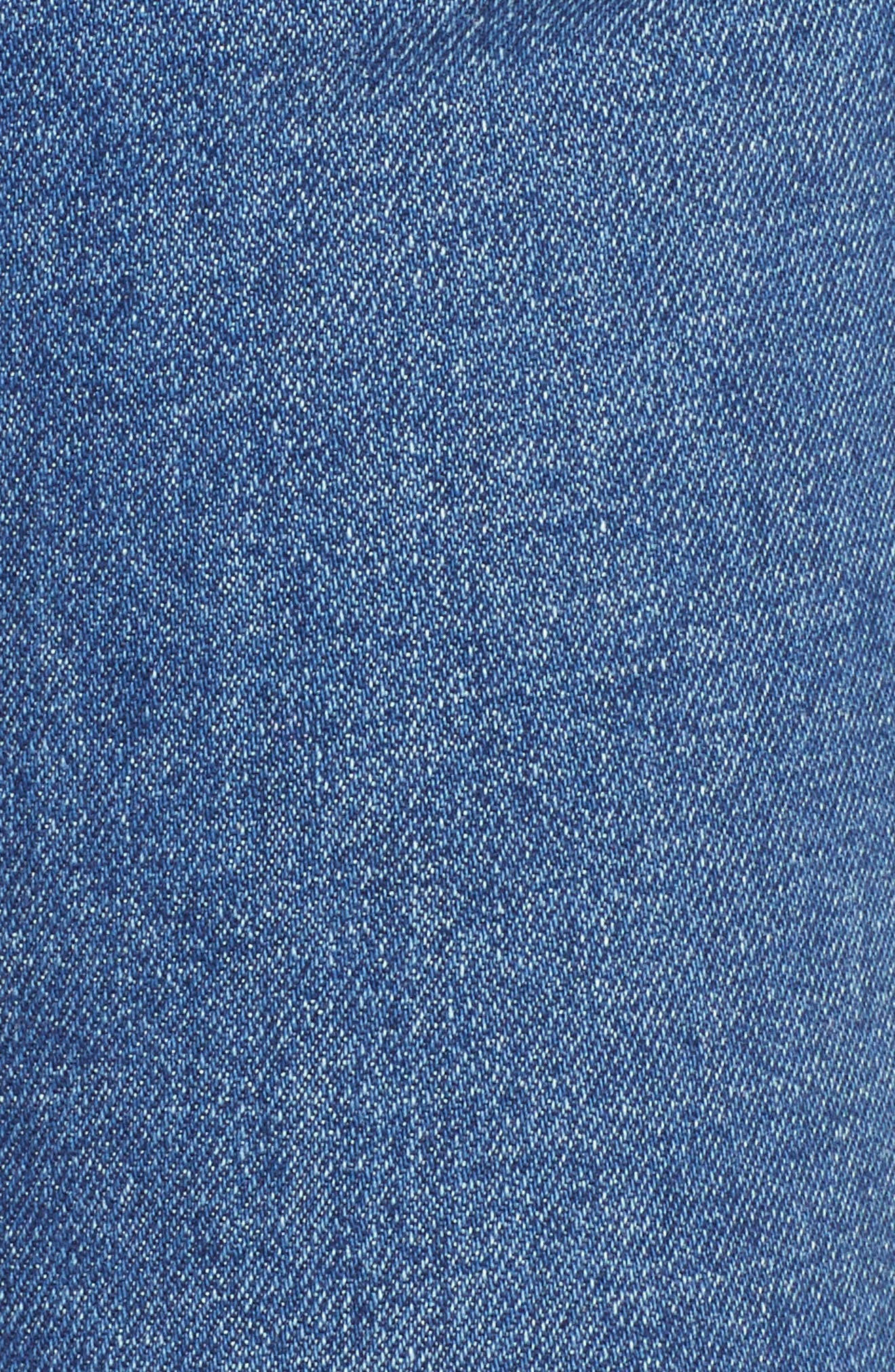 Izzy High Waist Slim Crop Jeans,                             Alternate thumbnail 6, color,                             400