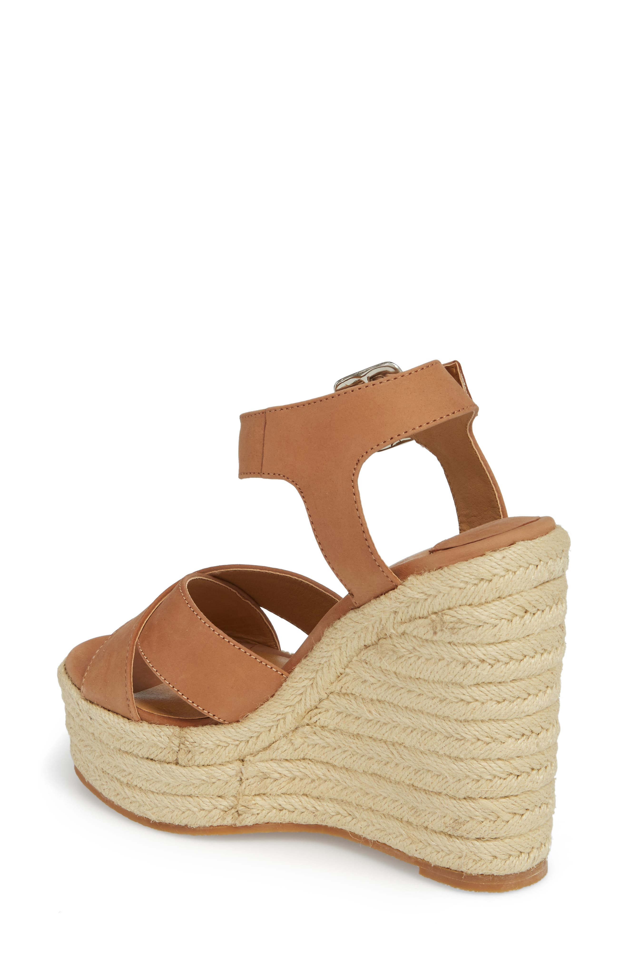 Boston Espadrille Wedge Sandal,                             Alternate thumbnail 2, color,                             CARAMEL PHOENIX LEATHER