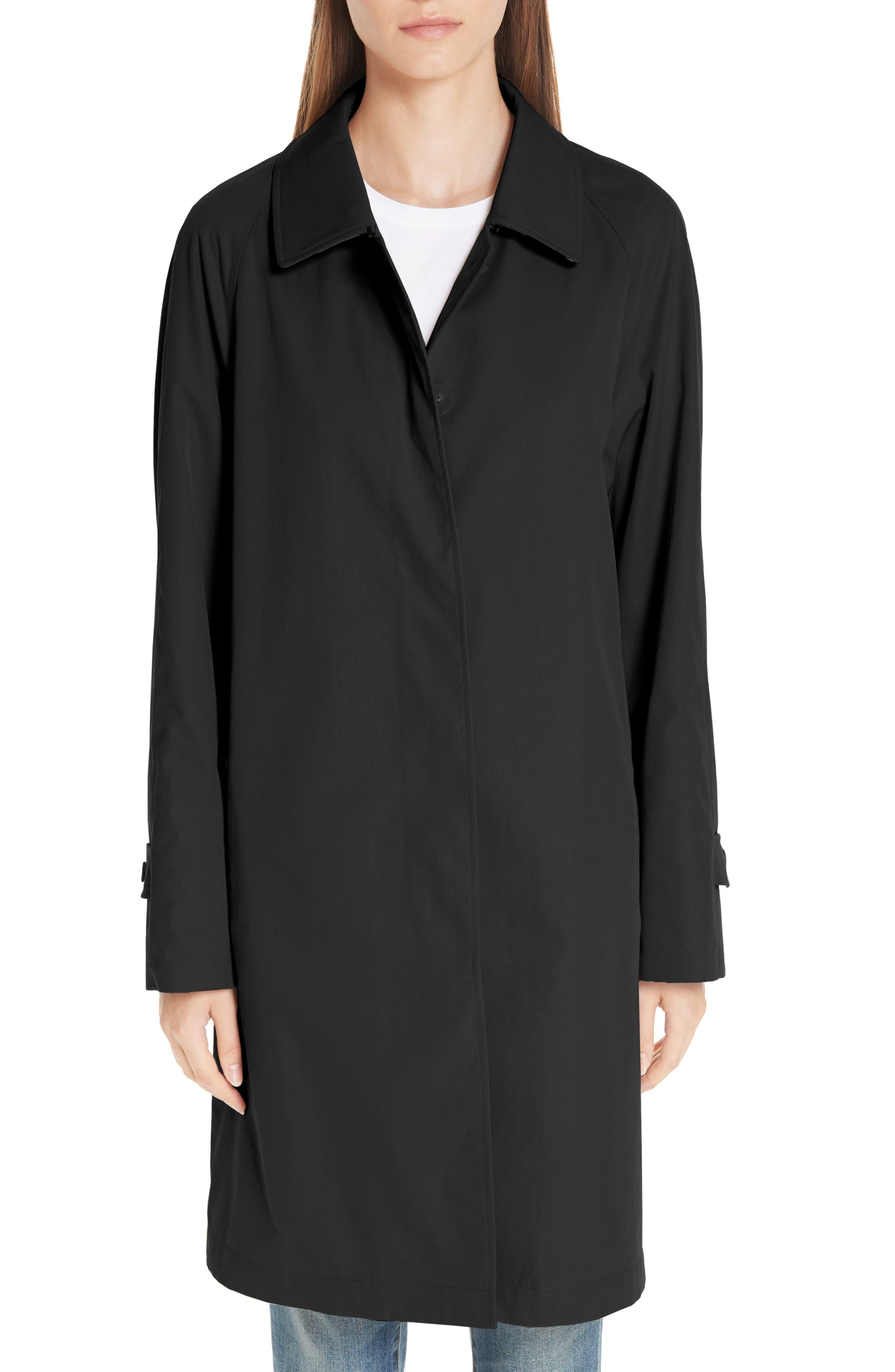 Camden Cotton Car Coat,                         Main,                         color, BLACK