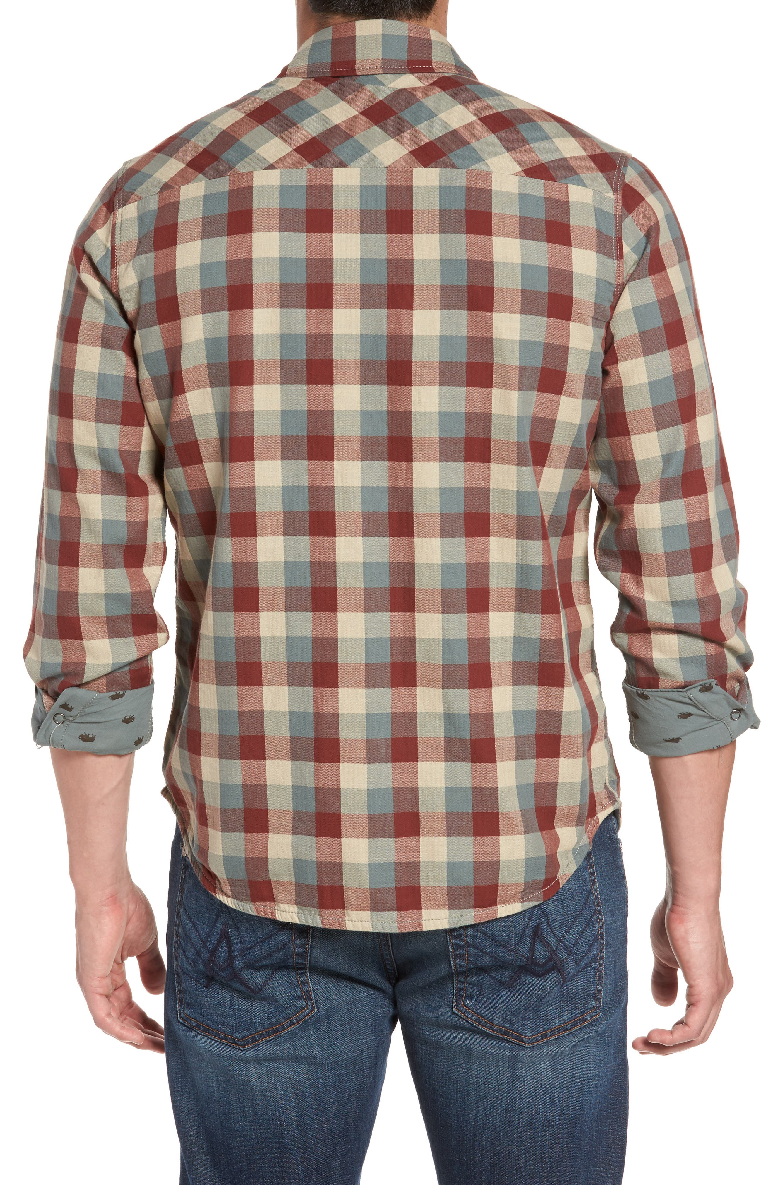 Reversible Regular Fit Sport Shirt,                             Alternate thumbnail 2, color,                             424