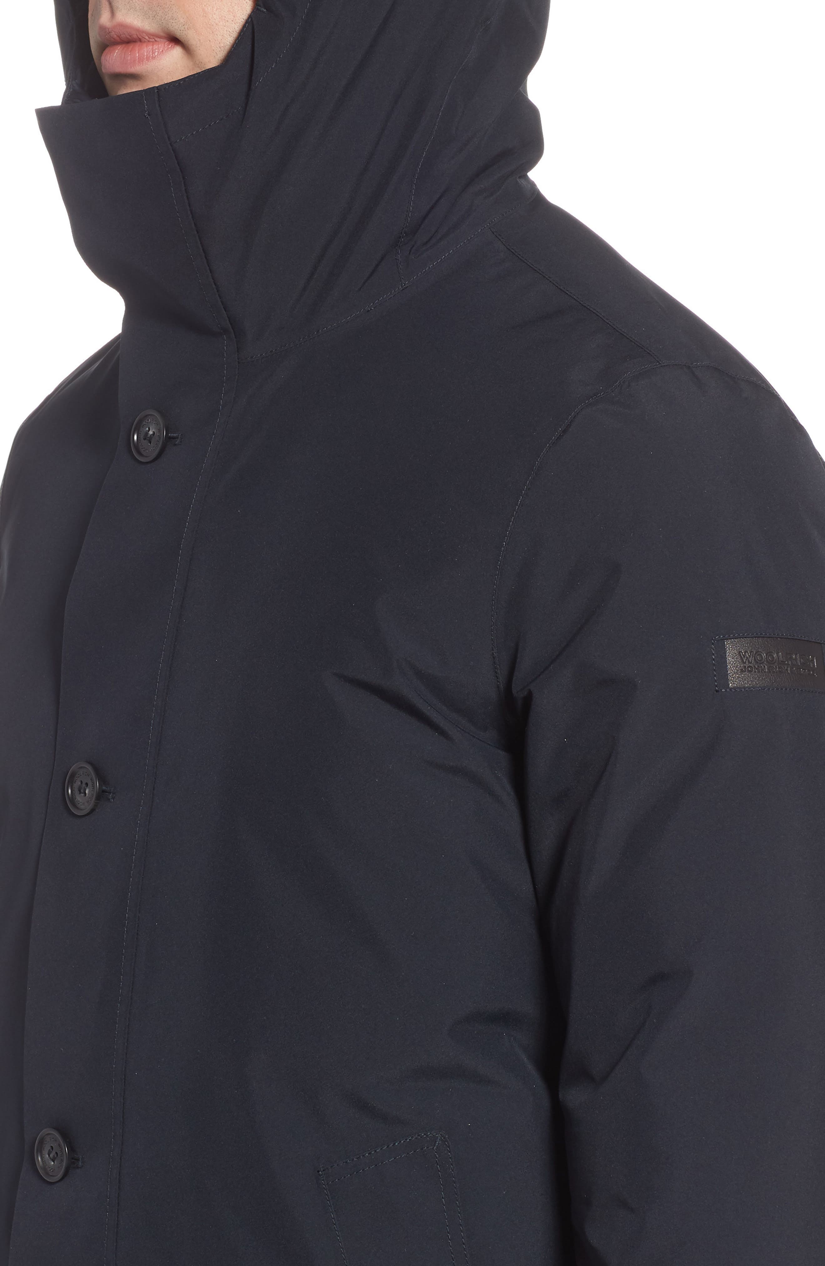 Waterproof Gore-Tex<sup>®</sup> Alpine Jacket,                             Alternate thumbnail 4, color,                             NAVY MELTON