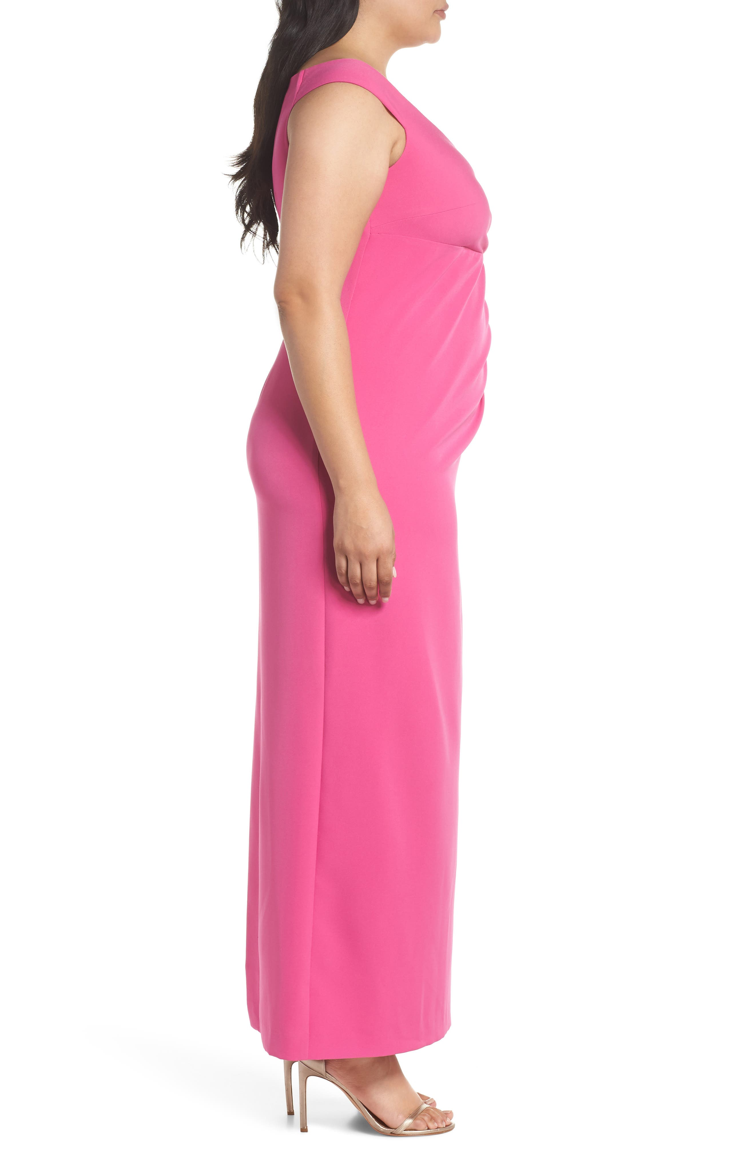 Off the Shoulder Embellished Ruffle Gown,                             Alternate thumbnail 3, color,                             650