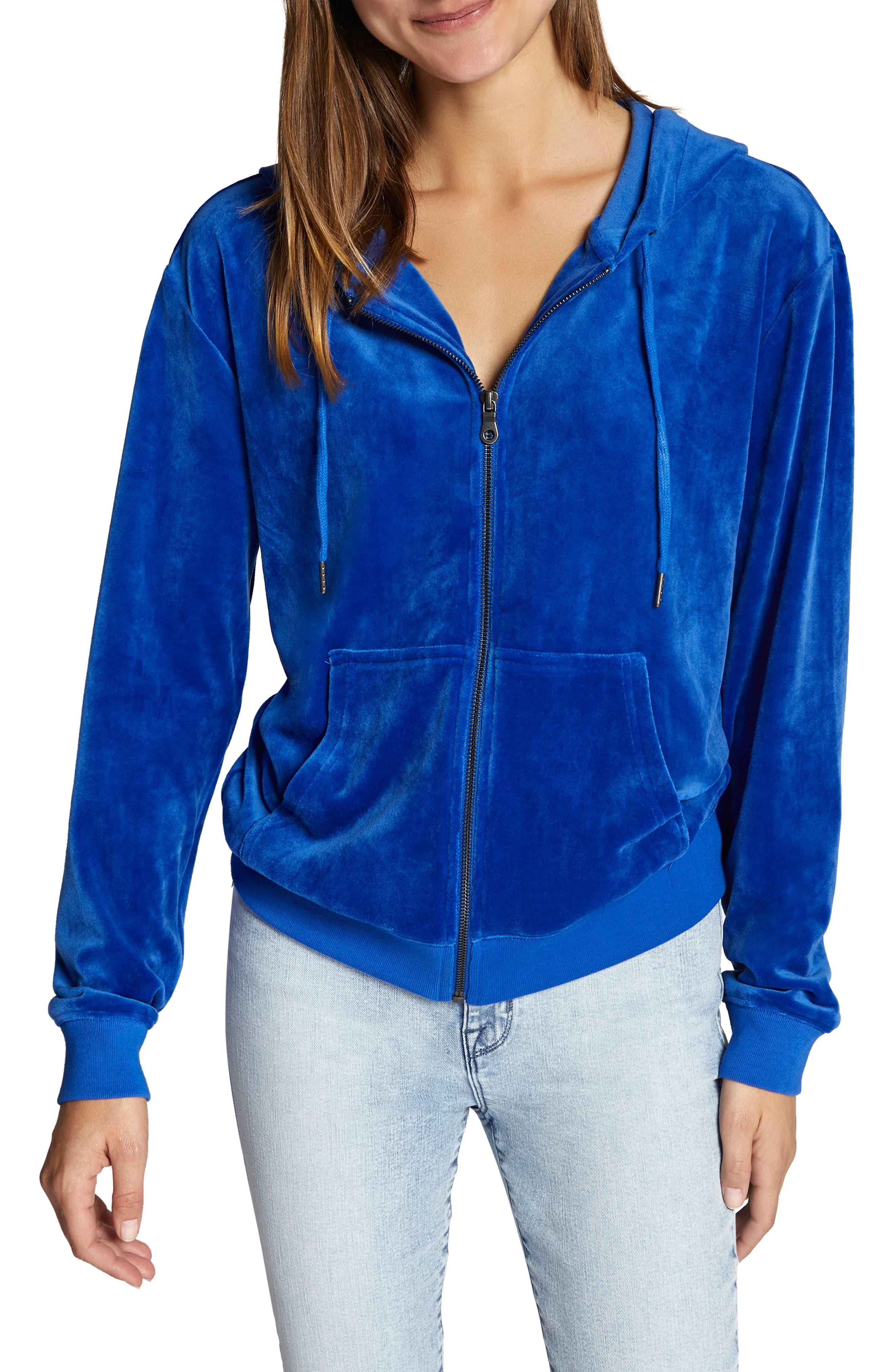 Melrose Raisin Hooded Jacket,                             Main thumbnail 1, color,                             ELECTRIC BLUE
