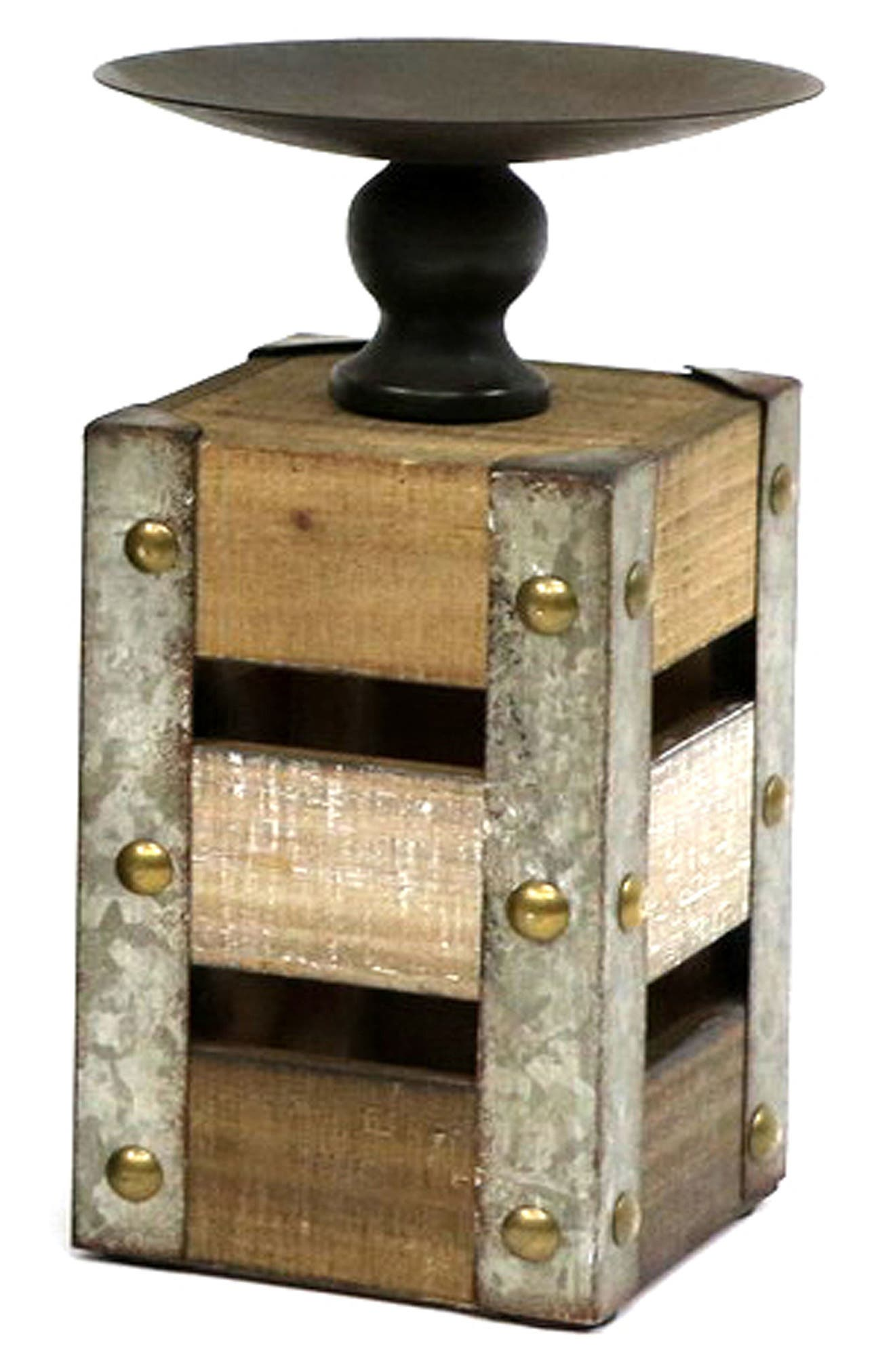 Wood Candle Holder, Main, color, 200