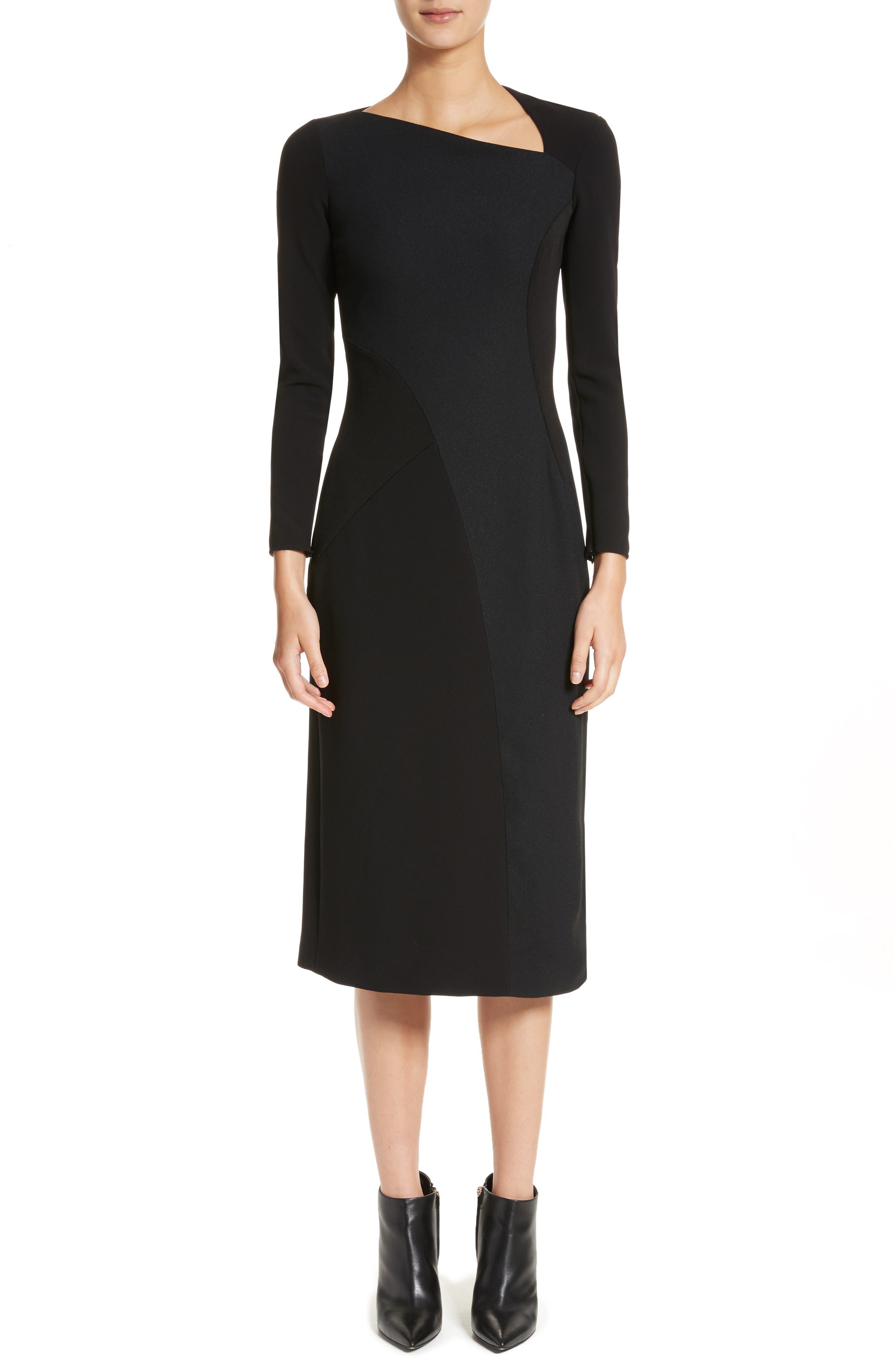 Fabiana Slash Neck Panel Dress,                         Main,                         color, 001