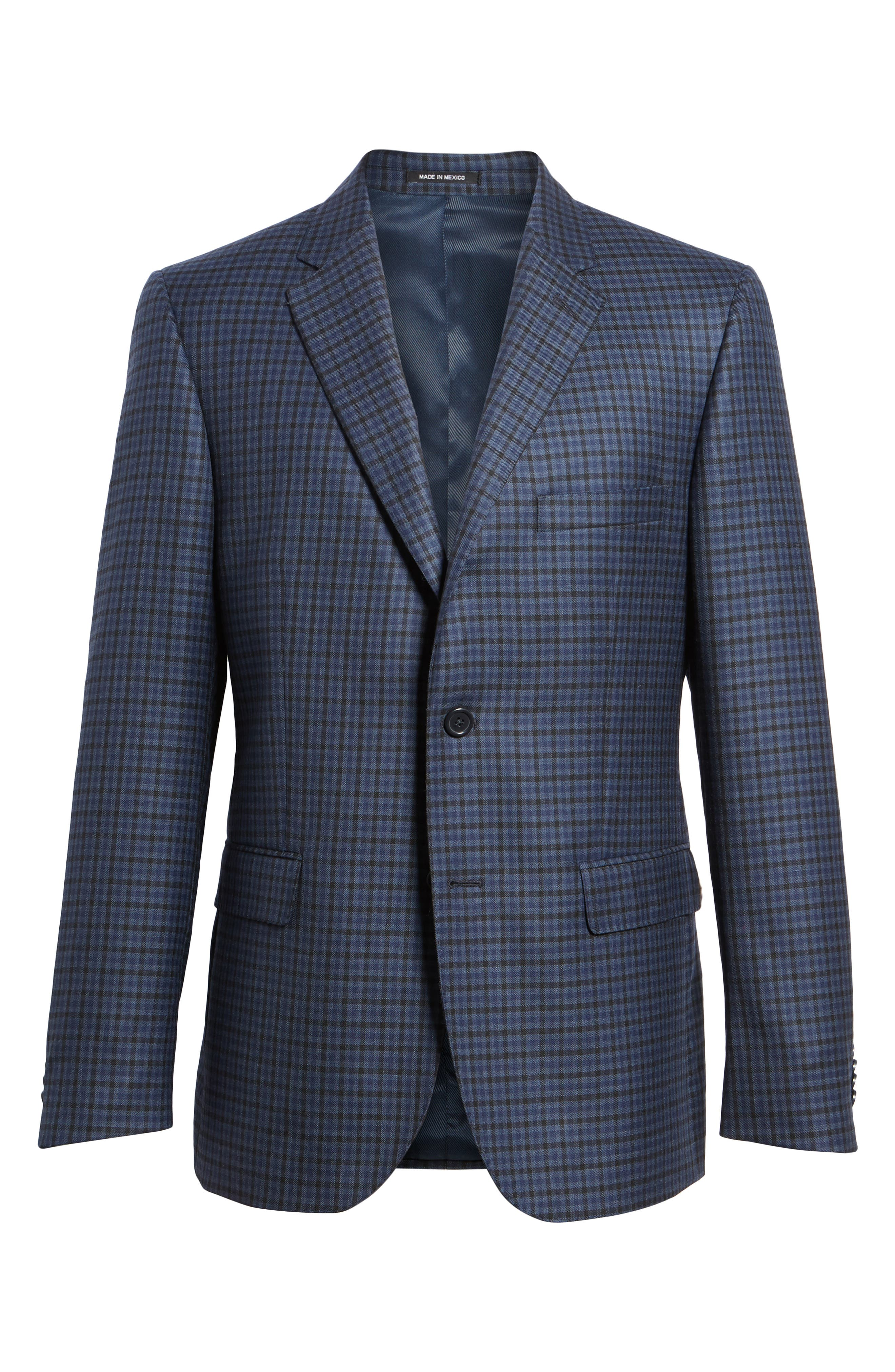 Classic Fit Plaid Wool Sport Coat,                             Alternate thumbnail 5, color,                             410