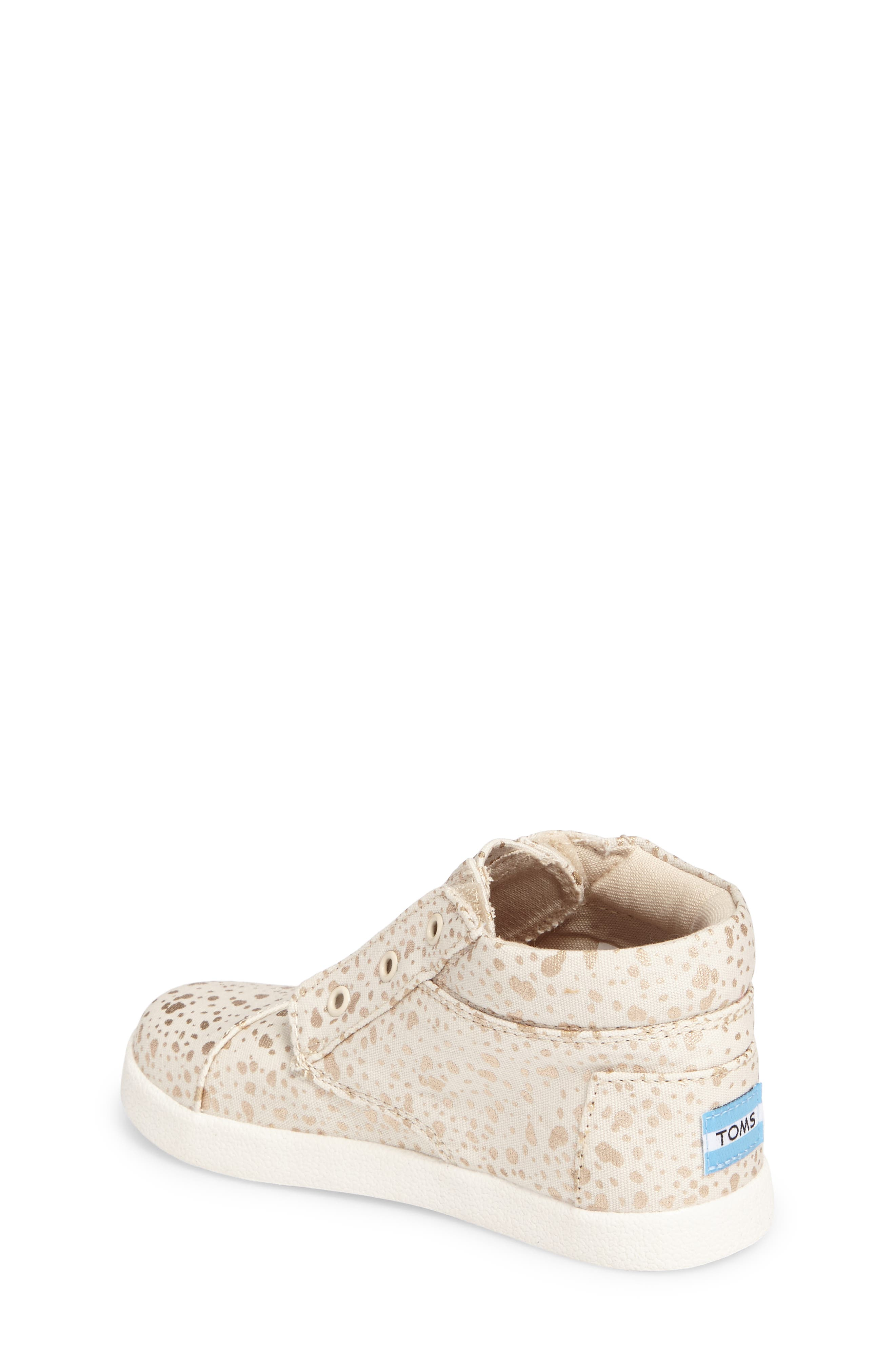 Paseo High Top Sneaker,                             Alternate thumbnail 2, color,                             GOLD FOIL SNOW SPOTS