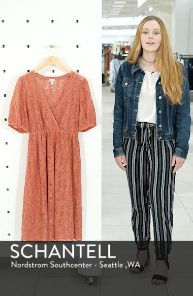 Puff Sleeve Lace Dress, sales video thumbnail