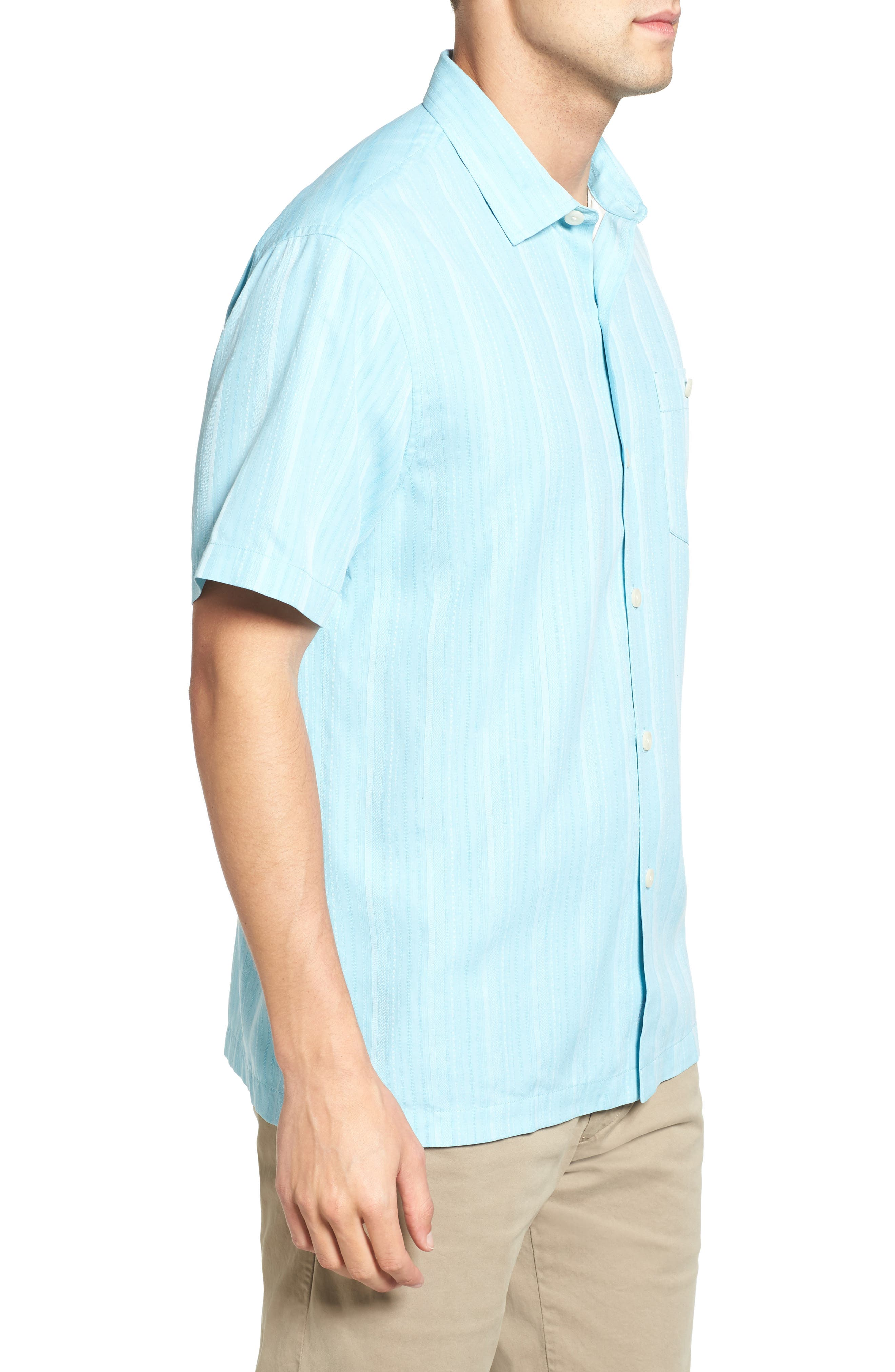 Zaldera Stripe Silk Camp Shirt,                             Alternate thumbnail 10, color,