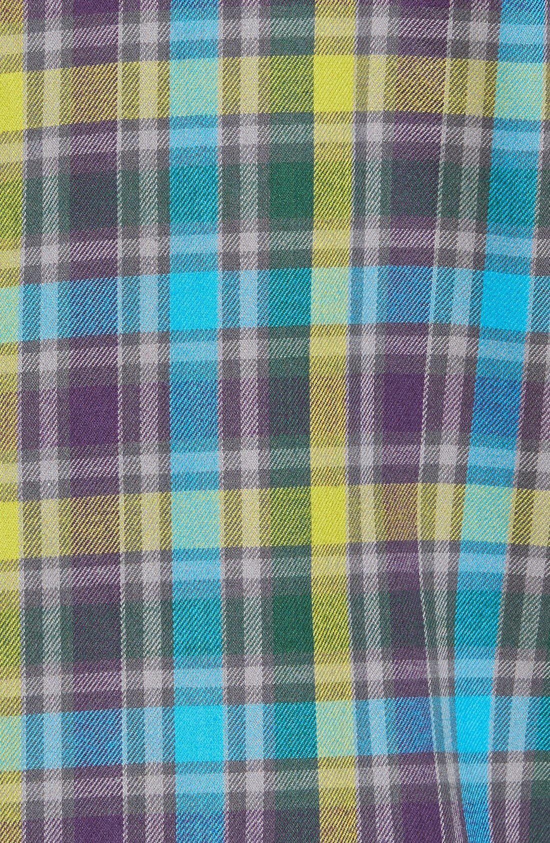 'Timber' Plaid Cotton Twill Sport Shirt,                             Alternate thumbnail 5, color,                             500