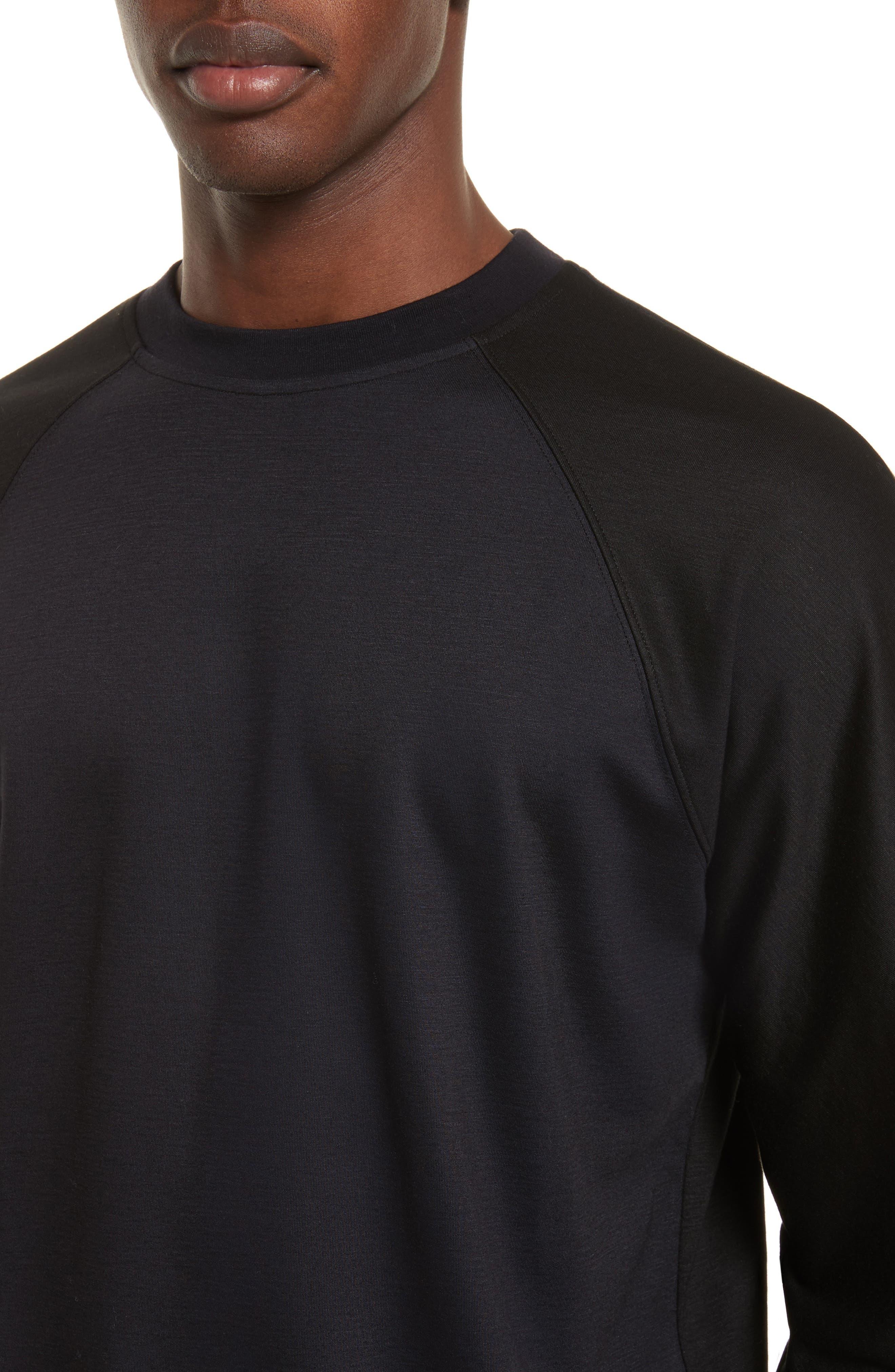 Crewneck Sweatshirt,                             Alternate thumbnail 4, color,                             001