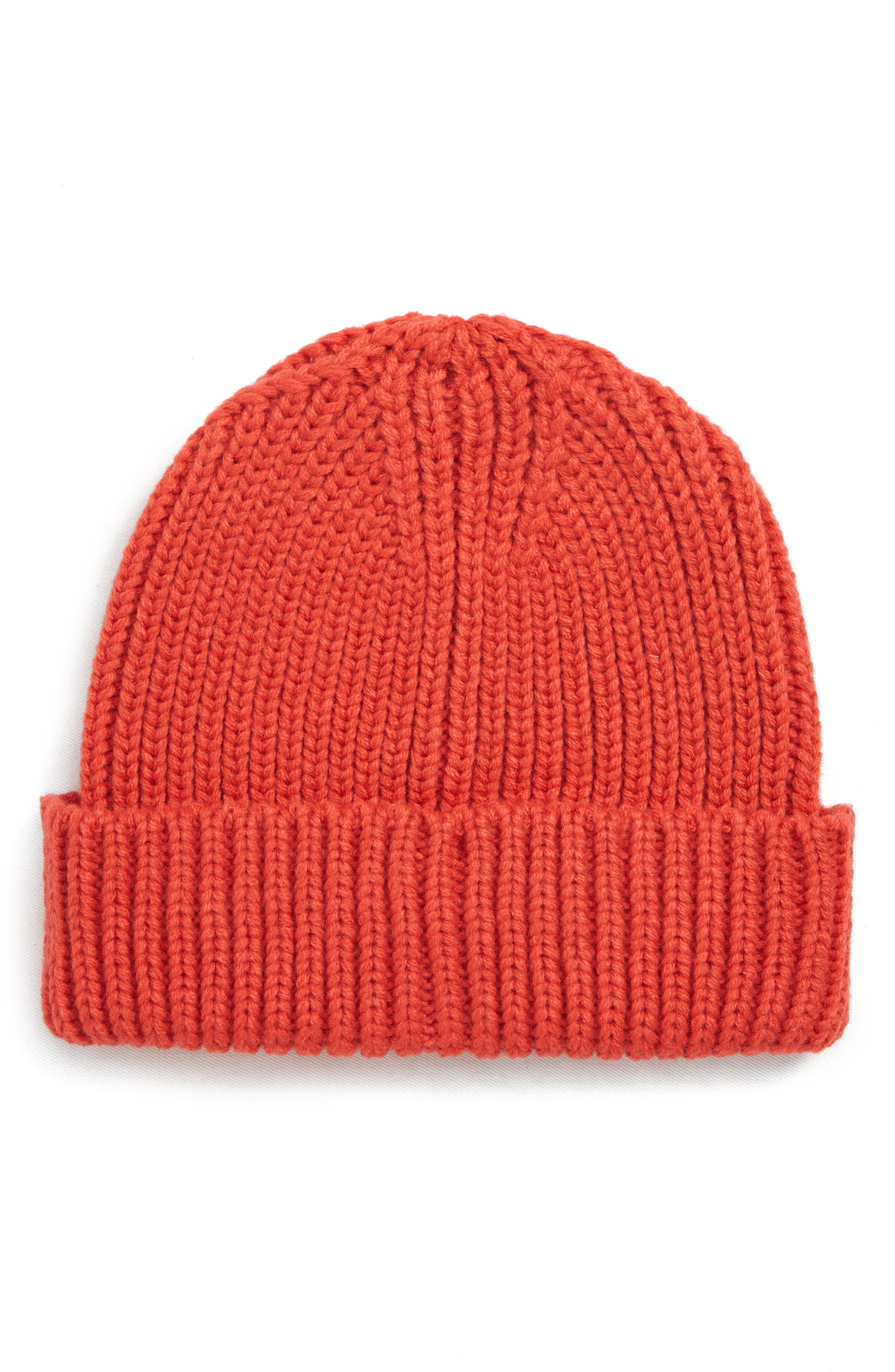 Fisherman Beanie,                         Main,                         color, RED