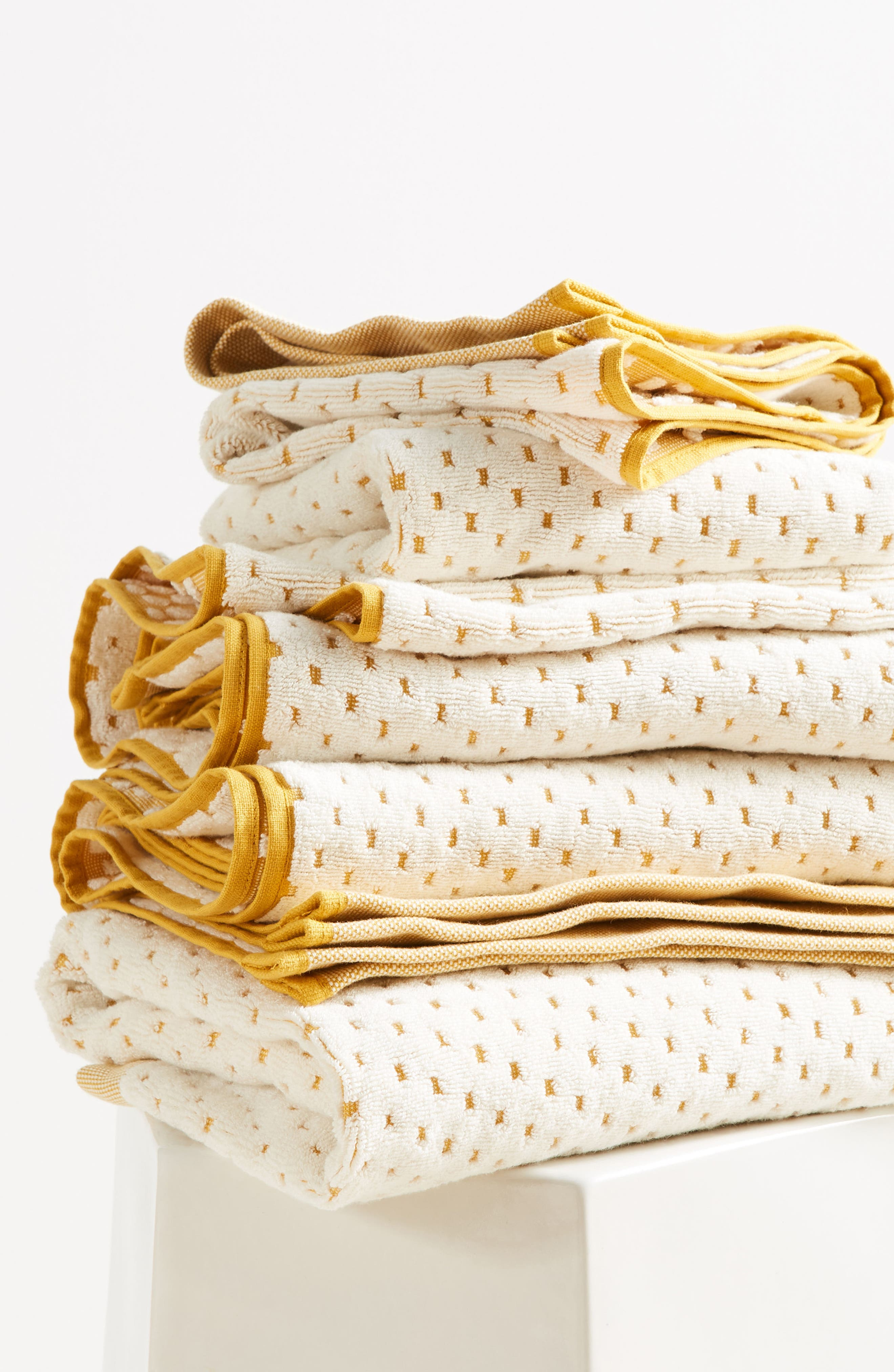 Dot Jacquard Hand Towel,                             Alternate thumbnail 6, color,