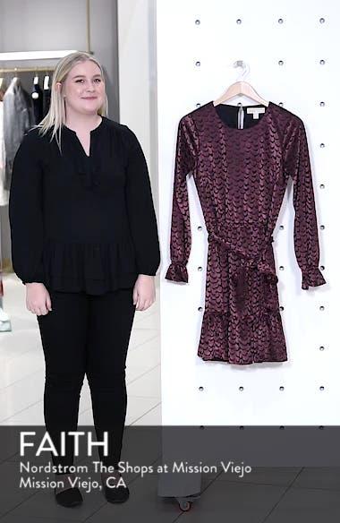 Velvet Tie Waist Dress, sales video thumbnail