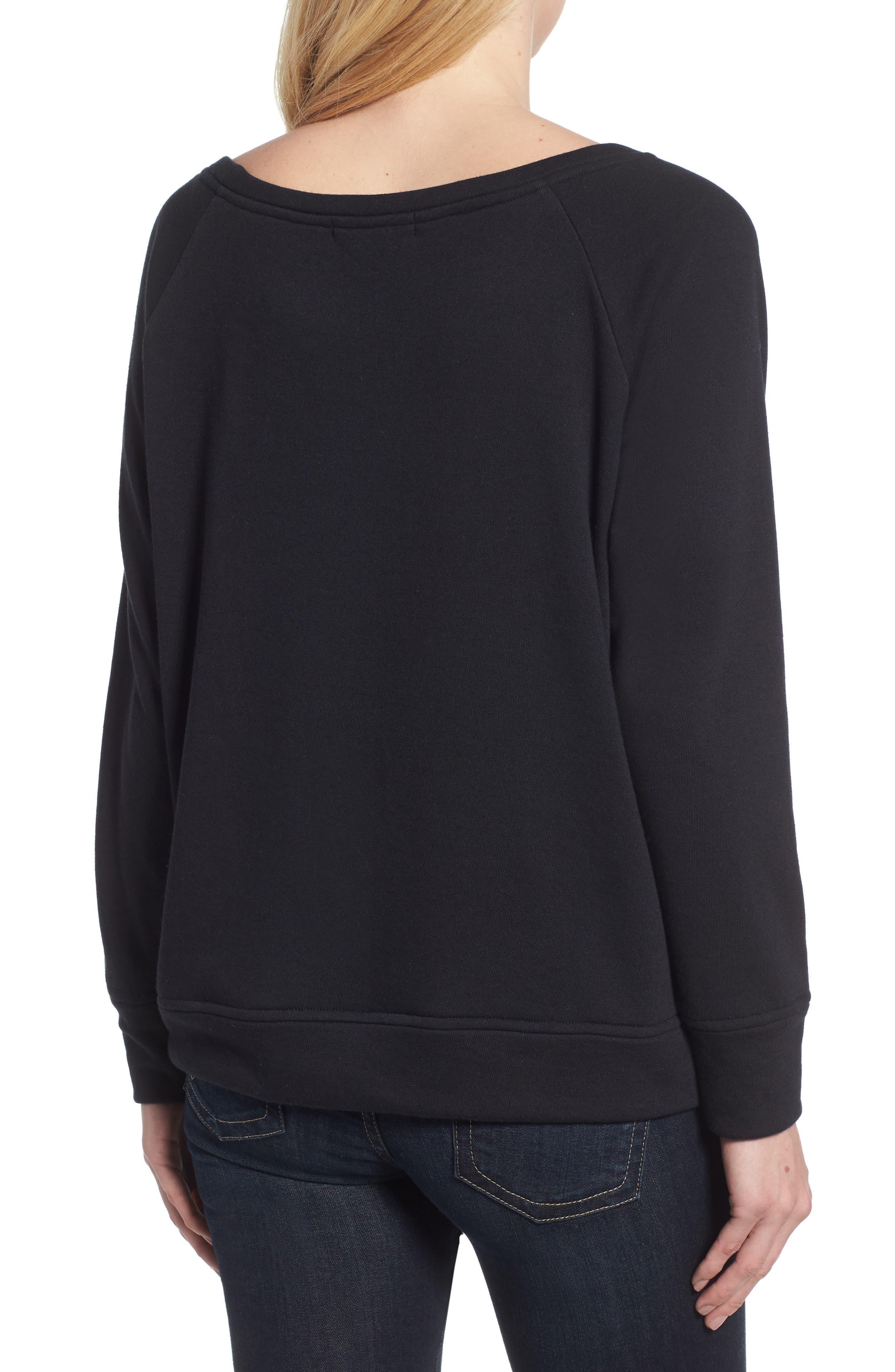 Slouch Sweatshirt,                             Alternate thumbnail 2, color,                             BLACK