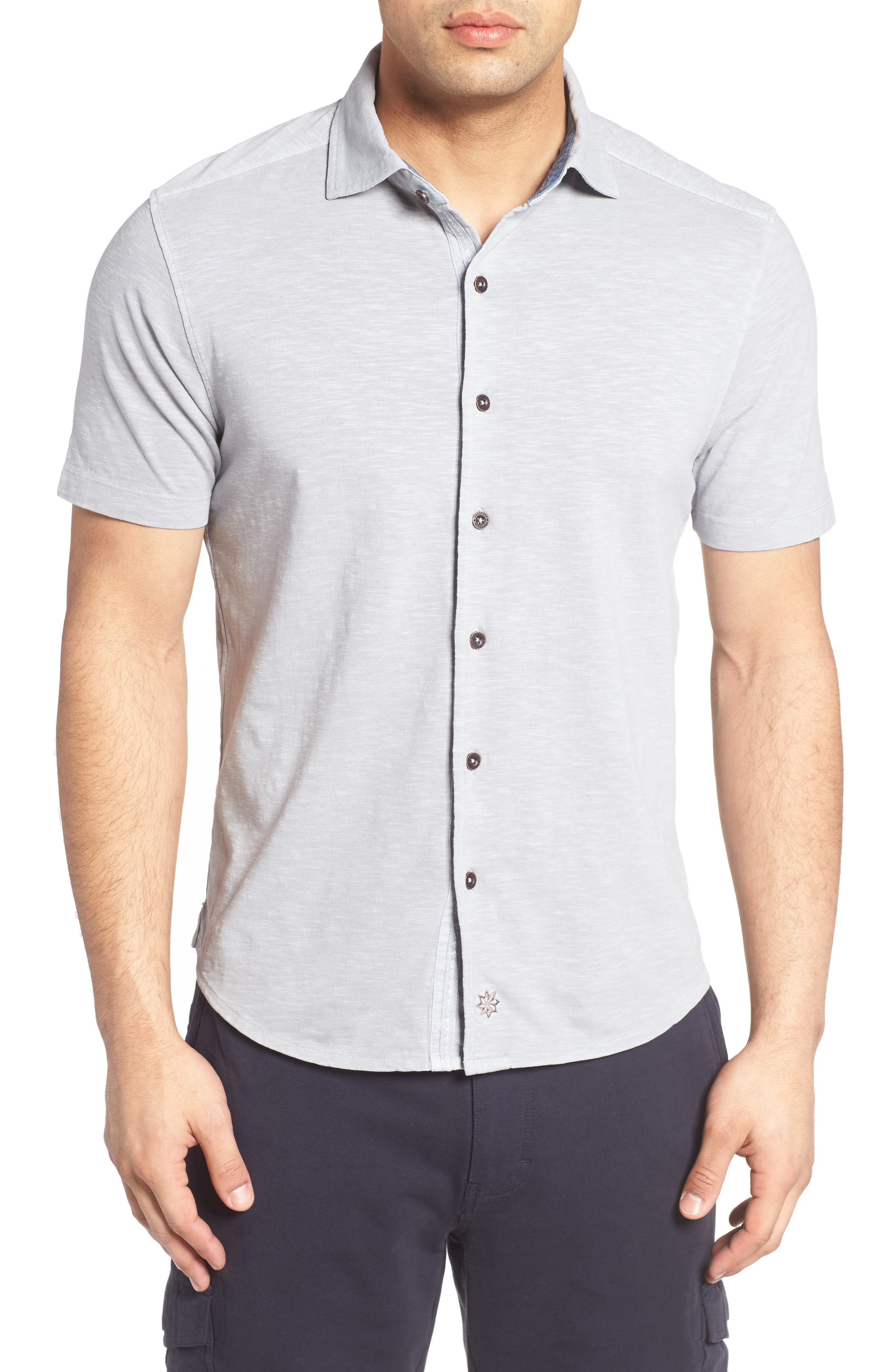 McAdams Slub Jersey Sport Shirt,                         Main,                         color, 020