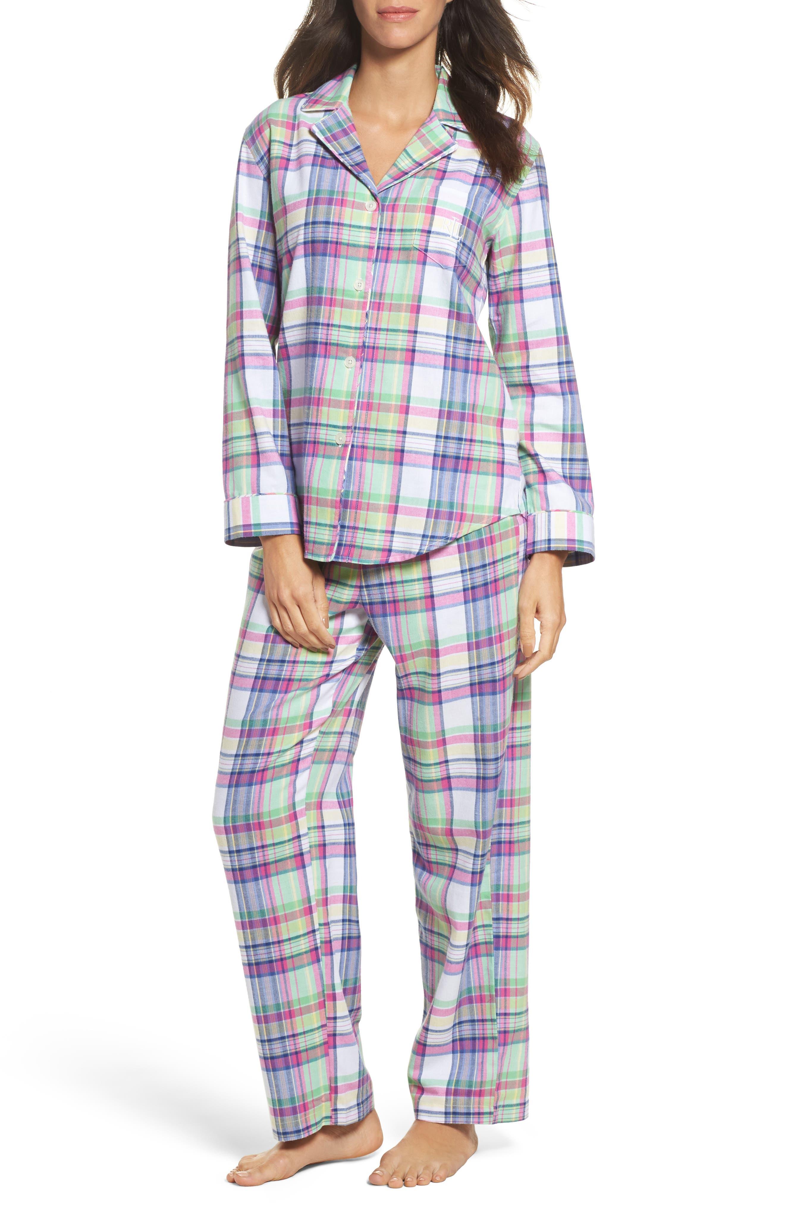 Notch Collar Pajamas,                             Main thumbnail 1, color,                             304