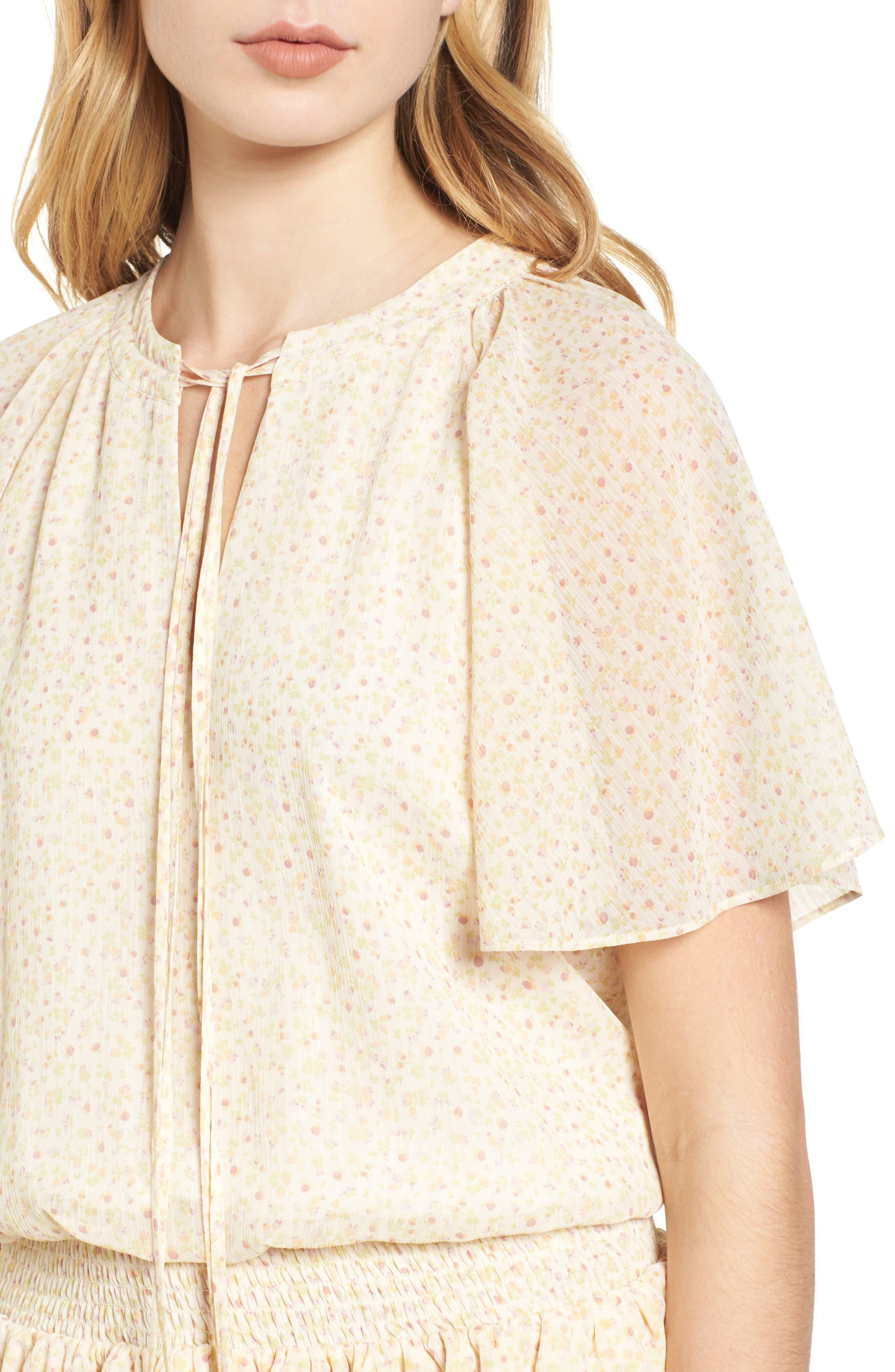 Pebble Blouson Minidress,                             Alternate thumbnail 4, color,