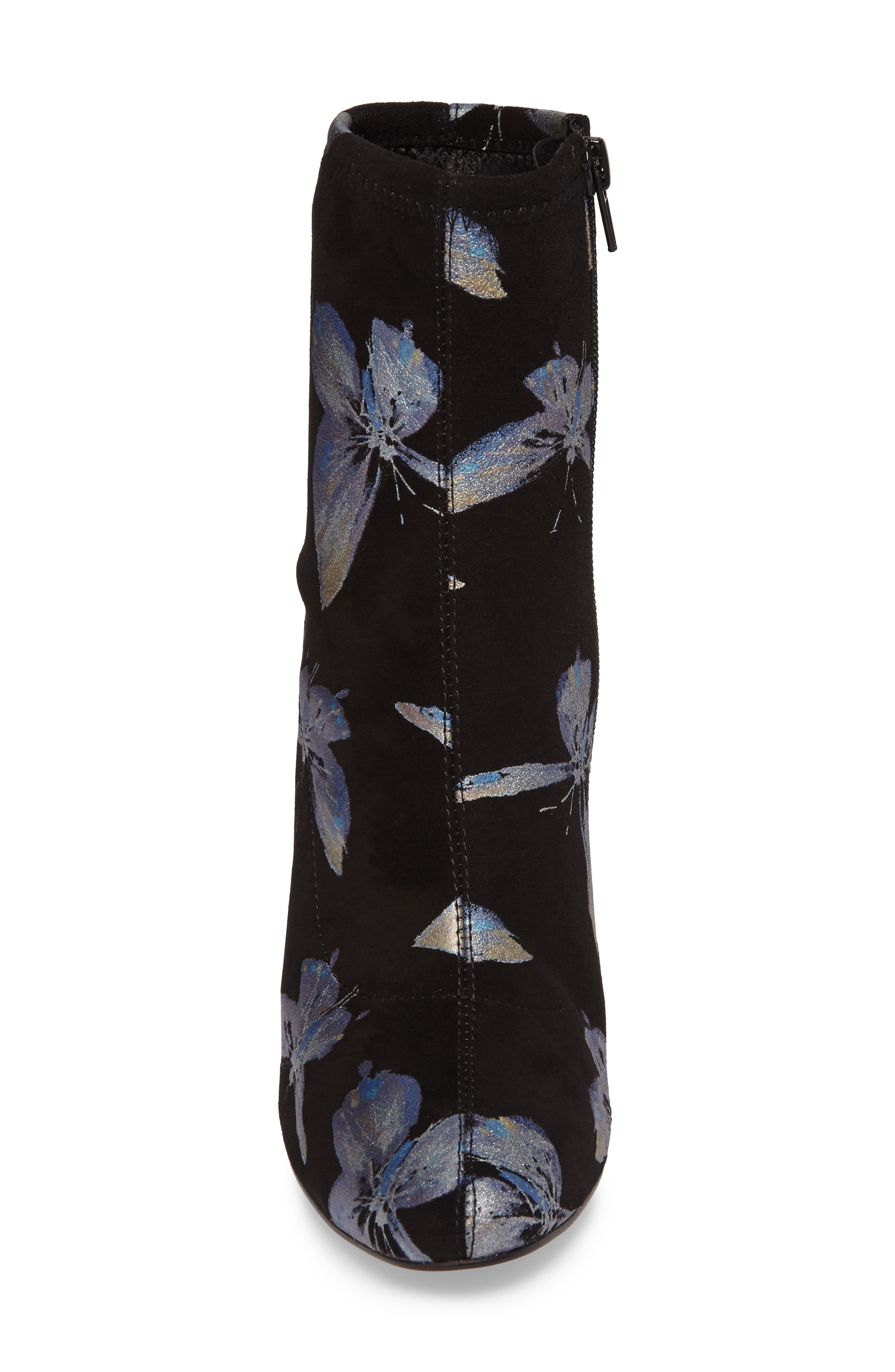 Fredda Butterfly Sock Bootie,                             Alternate thumbnail 4, color,                             001
