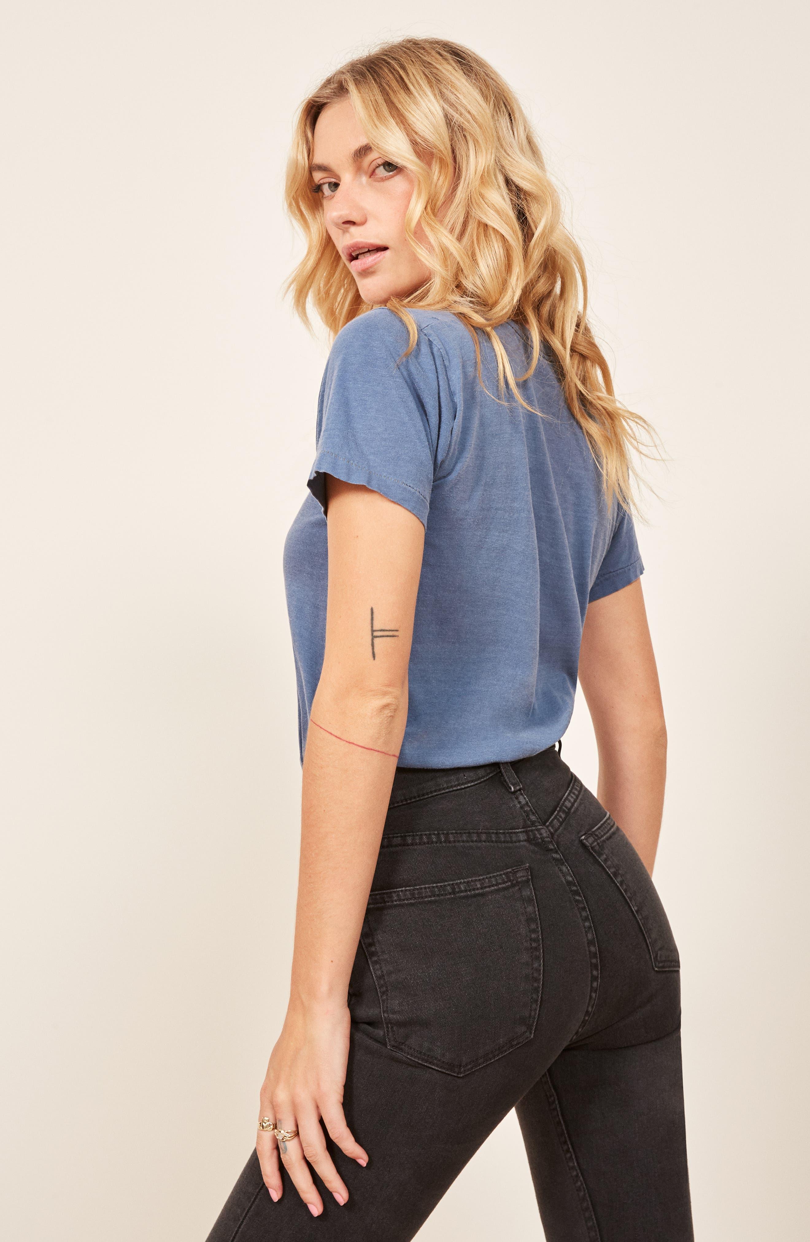 Serena High Waist Skinny Jeans,                             Alternate thumbnail 7, color,                             ARGENTINE