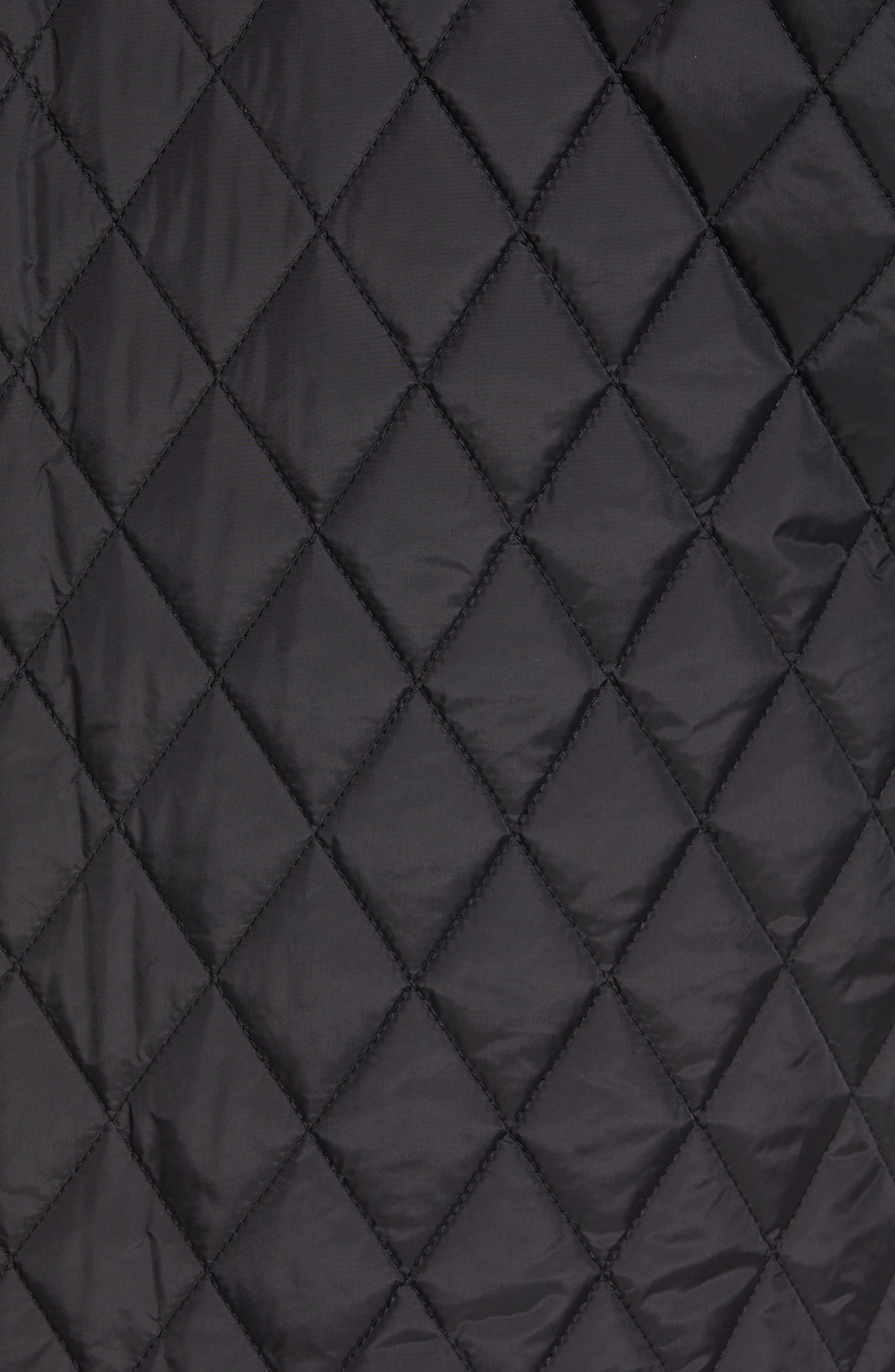 Quilted Moto Jacket,                             Alternate thumbnail 8, color,                             BLACK