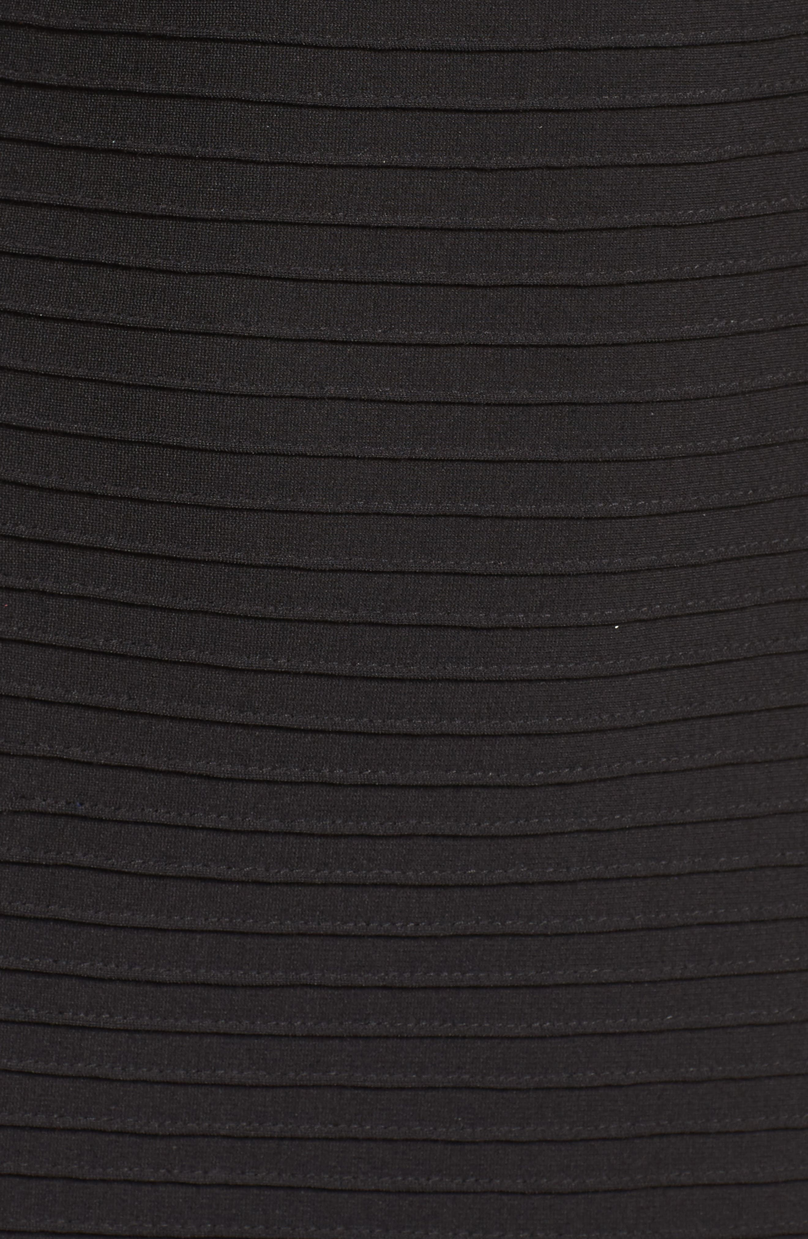 Mixed Media Sheath Dress,                             Alternate thumbnail 6, color,                             001