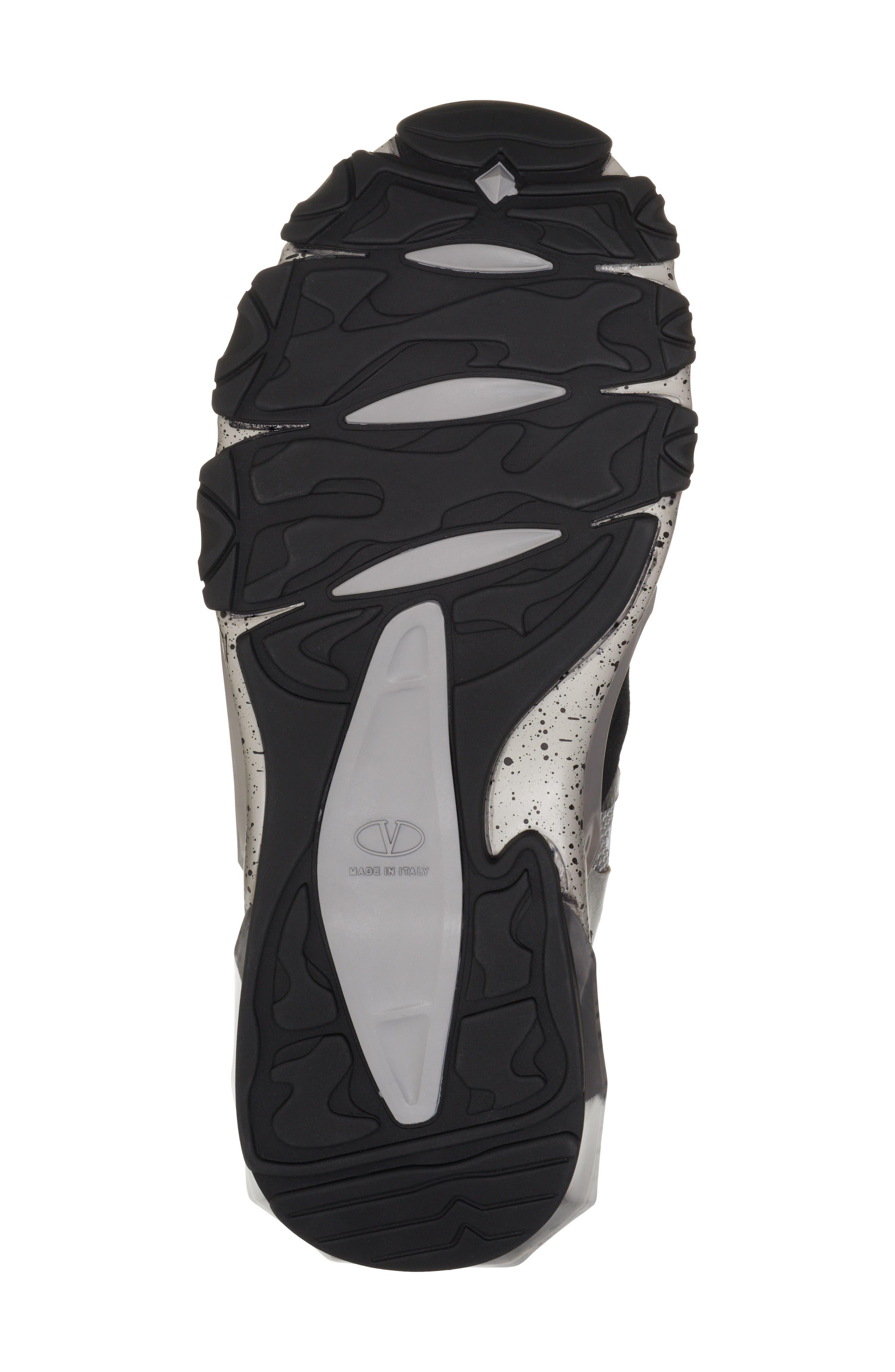 Bounce Sneaker,                             Alternate thumbnail 6, color,                             DARK SILVER/ BLACK