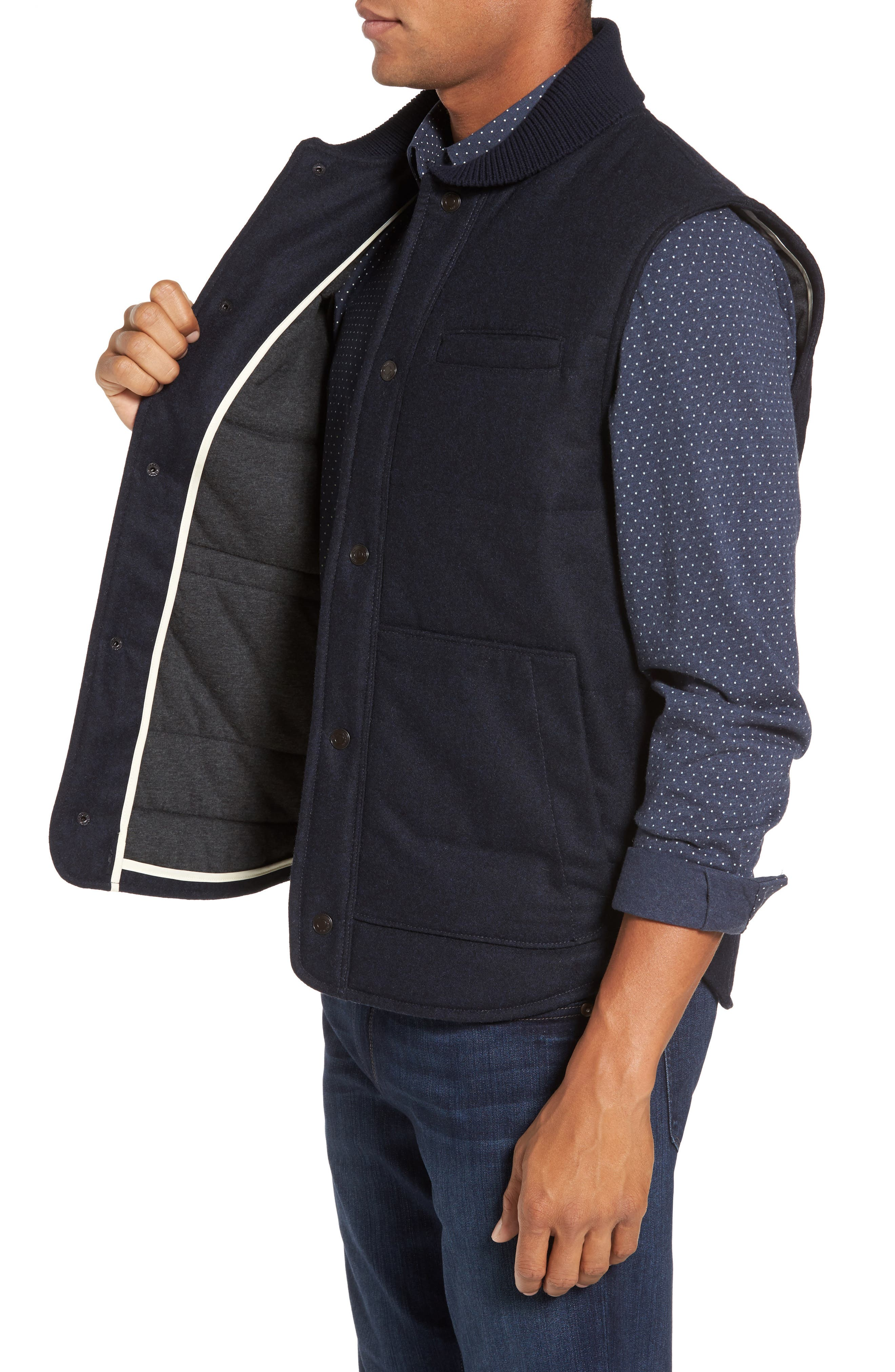 Quilted Work Vest,                             Alternate thumbnail 3, color,                             410
