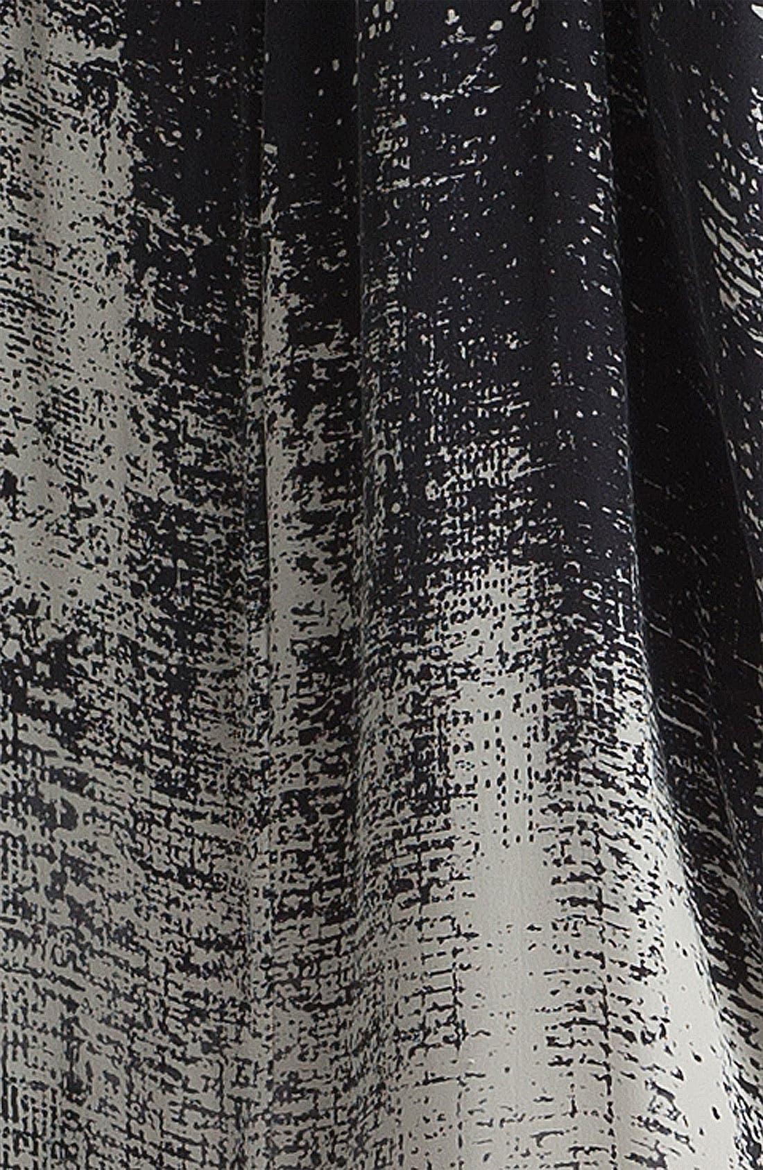 Print Silk Shift Dress,                             Alternate thumbnail 2, color,                             001