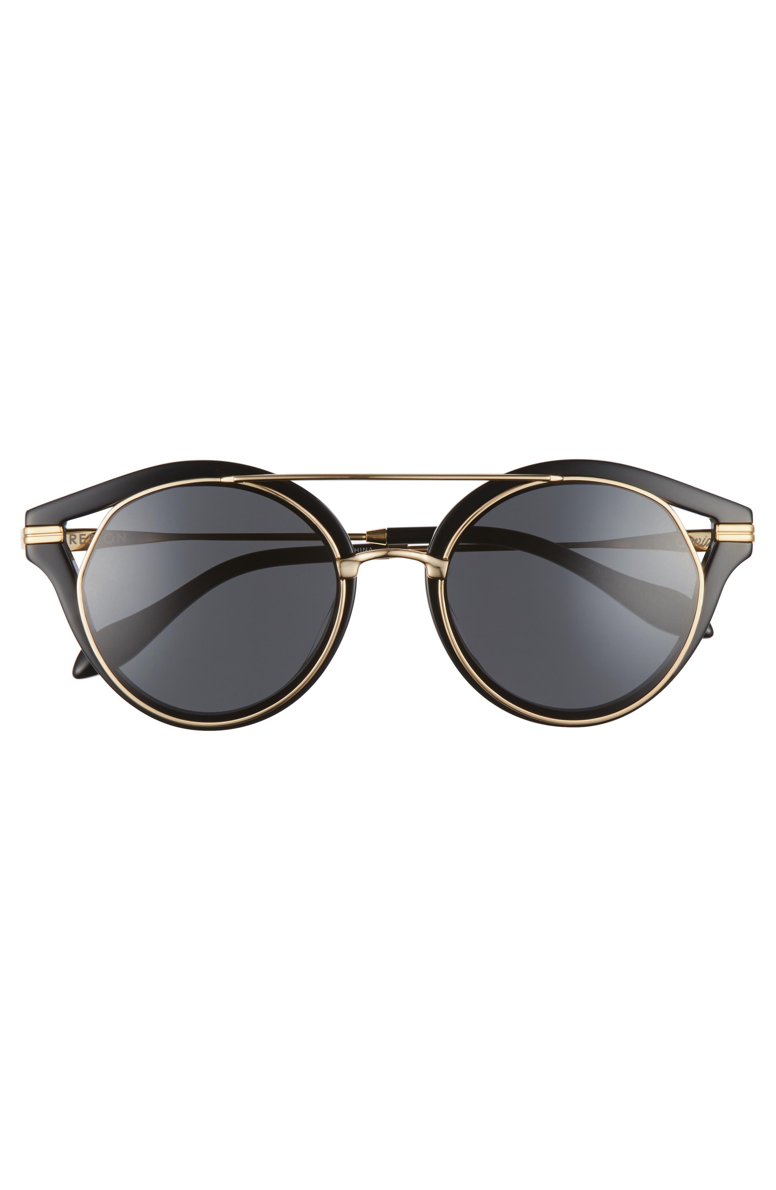 SONIX,                             Preston 51mm Gradient Round Sunglasses,                             Alternate thumbnail 3, color,                             001