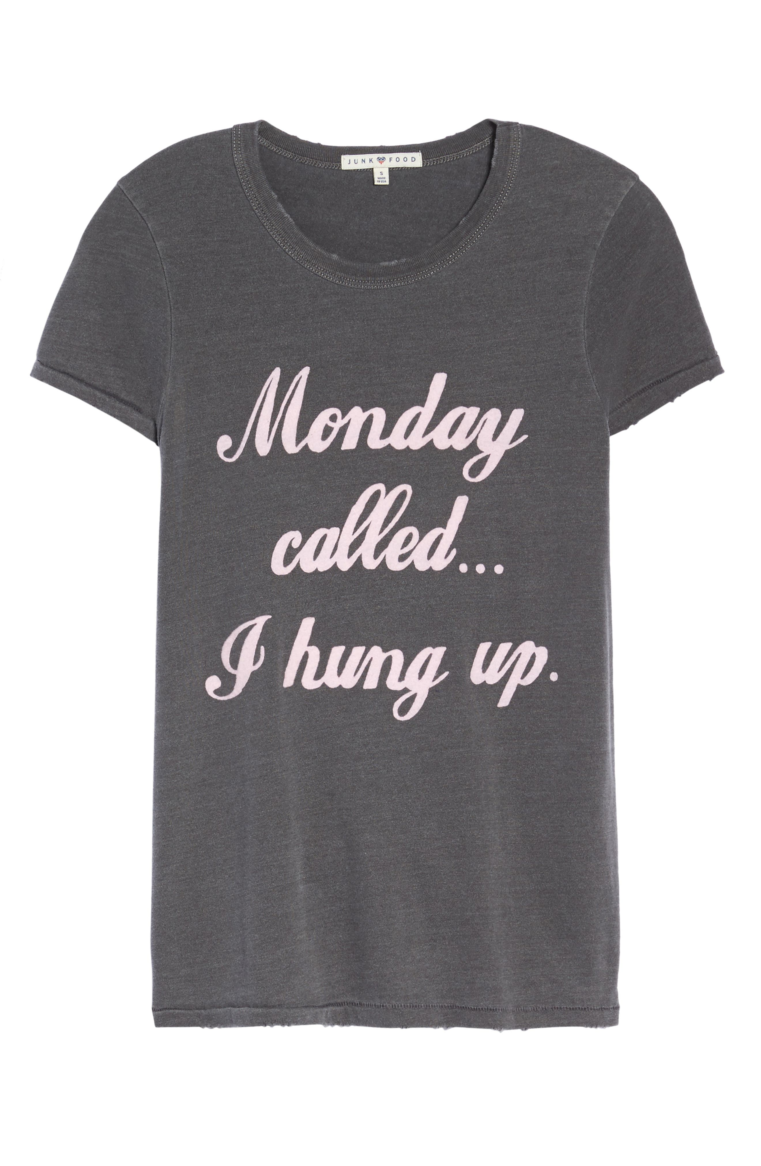 Monday Called Tee,                             Alternate thumbnail 6, color,