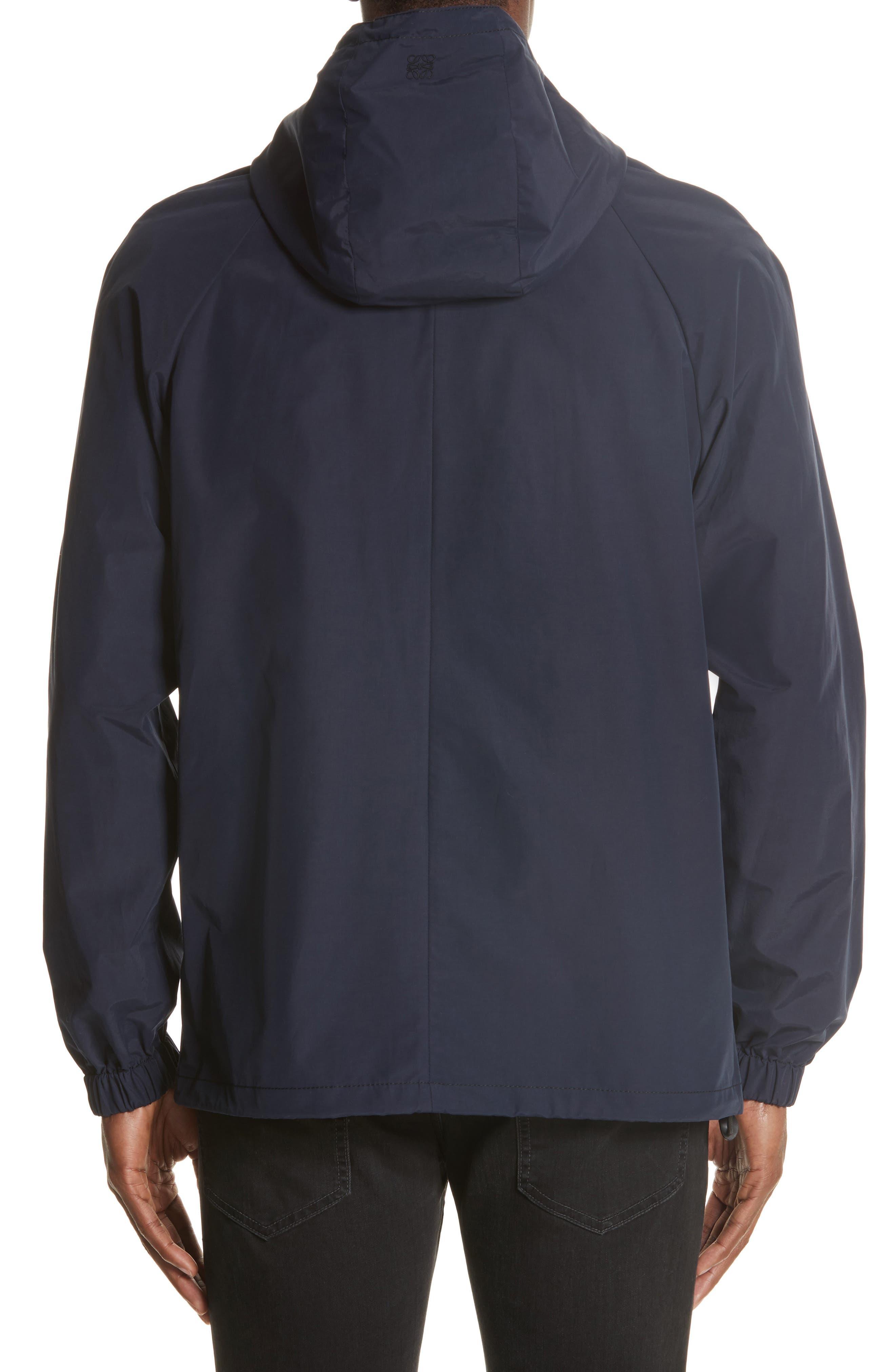 Zip Hooded Jacket,                             Alternate thumbnail 2, color,                             NAVY BLUE